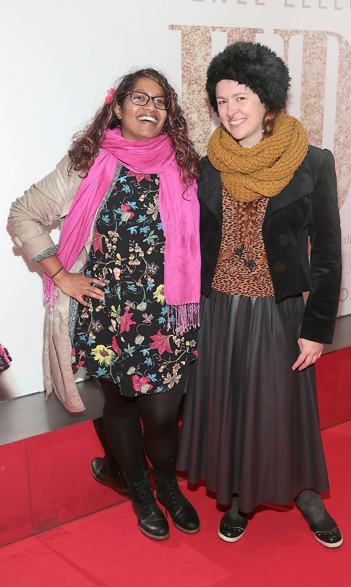 Chandrika Nakayanan Mohan and Belle Agogo pictured at the Irish Premiere of Judy at the Lighthouse Cinema, Dublin.  Pic: Brian McEvoy.