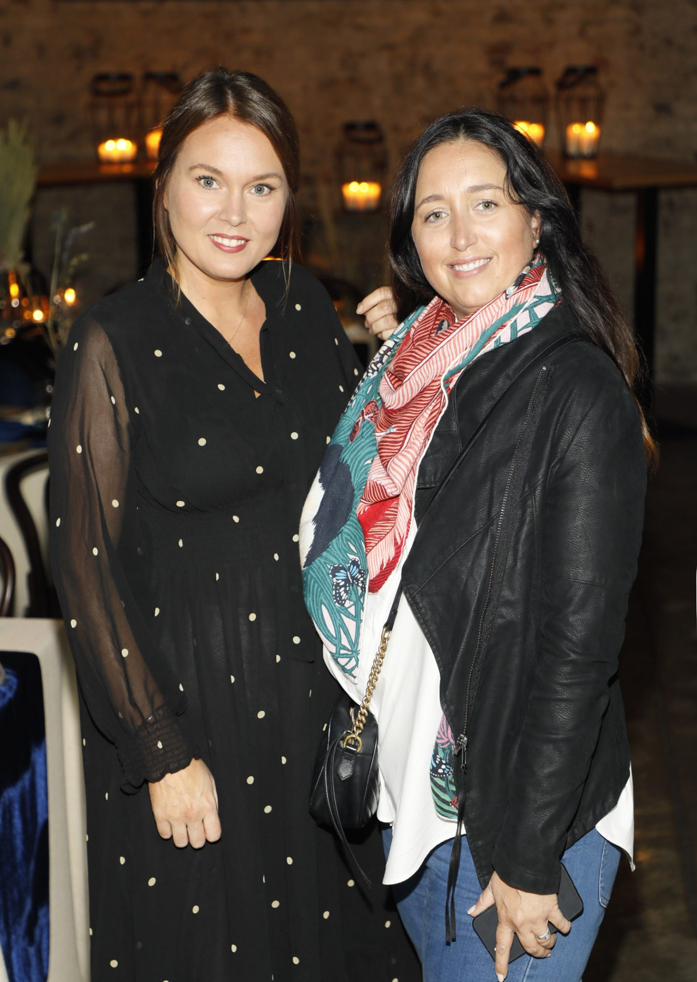 Amber Brown and Amy Pilgrim at Guinness Storehouse Seafest supper club. Photo: Kieran Harnett.