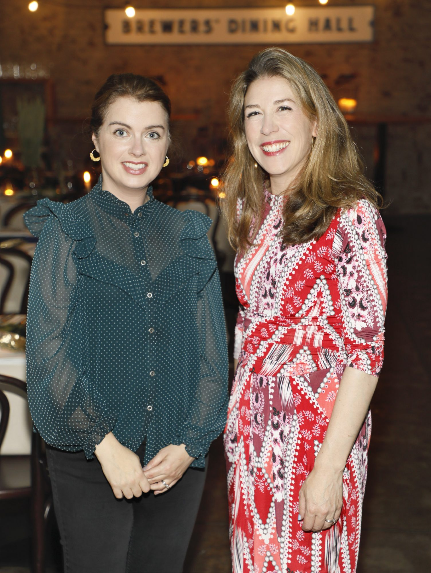 Christine O'Brien and Sarah Fleury at Guinness Storehouse Seafest supper club. Photo: Kieran Harnett.