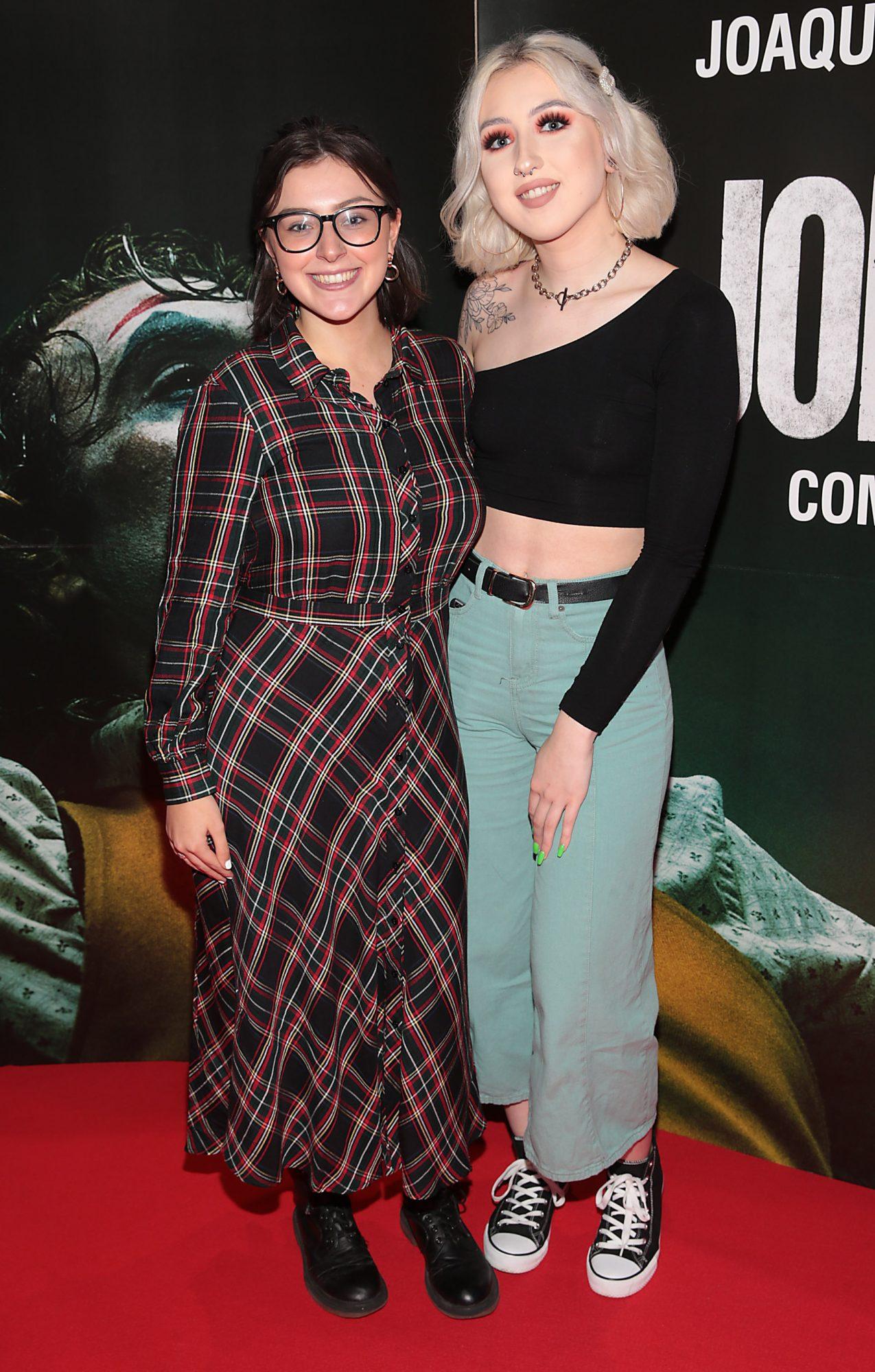 Jordann Jones and Aofe Sheridan at the Irish Premiere screening of Joker at Cineworld, Dublin. Pic: Brian McEvoy.