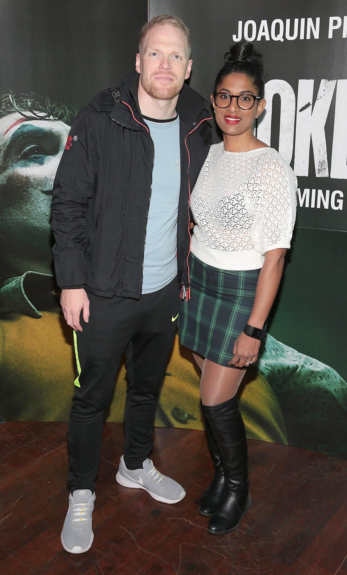 James Coffey and Vanessa Coffey at the Irish Premiere screening of Joker at Cineworld, Dublin. Pic: Brian McEvoy.