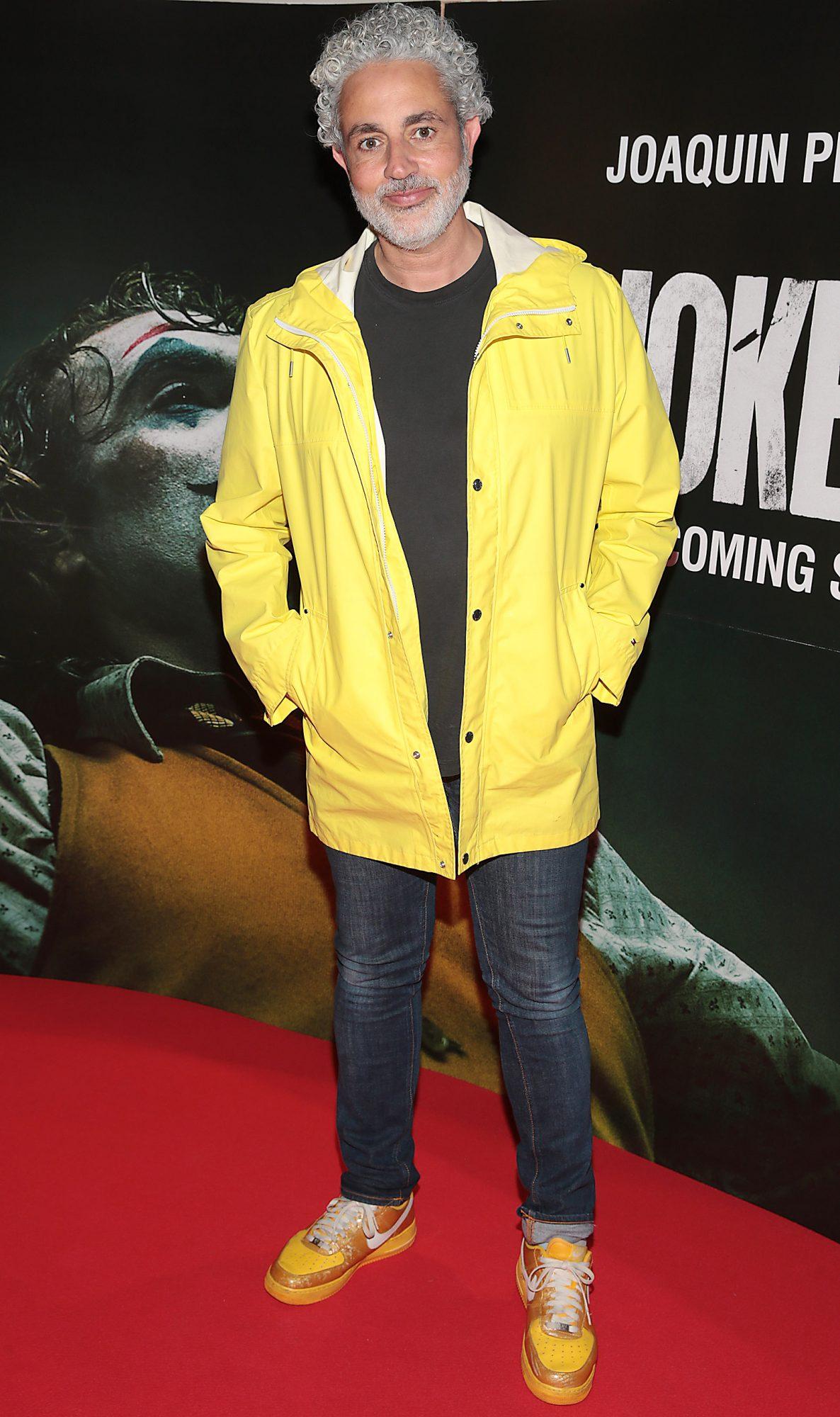 Baz Ashmawy at the Irish Premiere screening of Joker at Cineworld, Dublin. Pic: Brian McEvoy.
