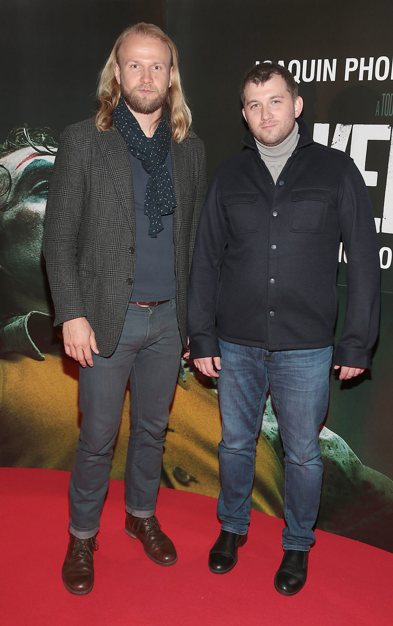Dimitry Vinokurov and Viatcheslav Mamaev at the Irish Premiere screening of Joker at Cineworld, Dublin. Pic: Brian McEvoy.