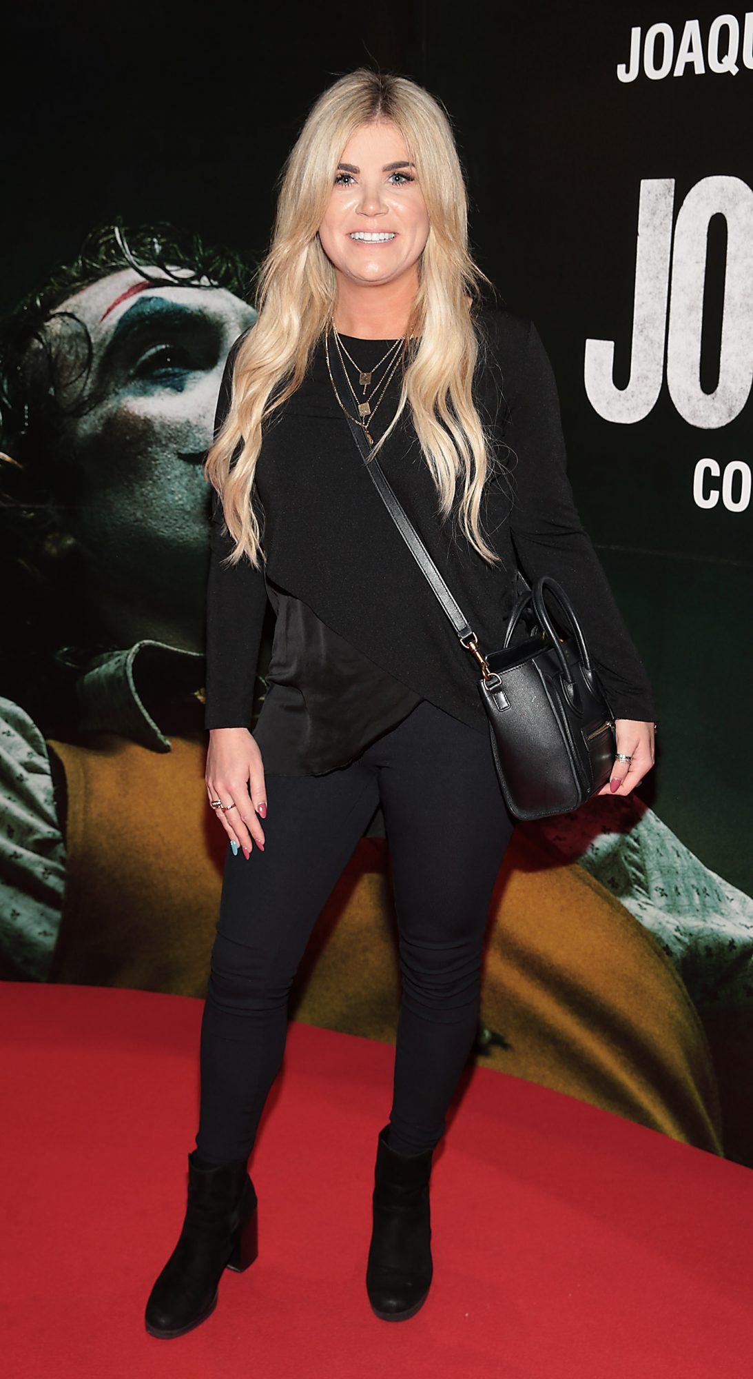 Katie Slein at the Irish Premiere screening of Joker at Cineworld, Dublin. Pic: Brian McEvoy.