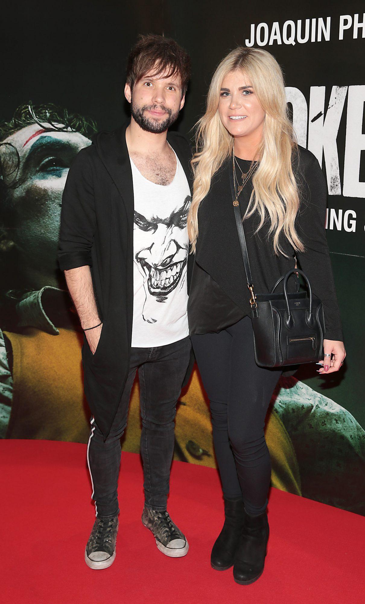Calum McAdam and Katie Slein at the Irish Premiere screening of Joker at Cineworld, Dublin. Pic: Brian McEvoy.