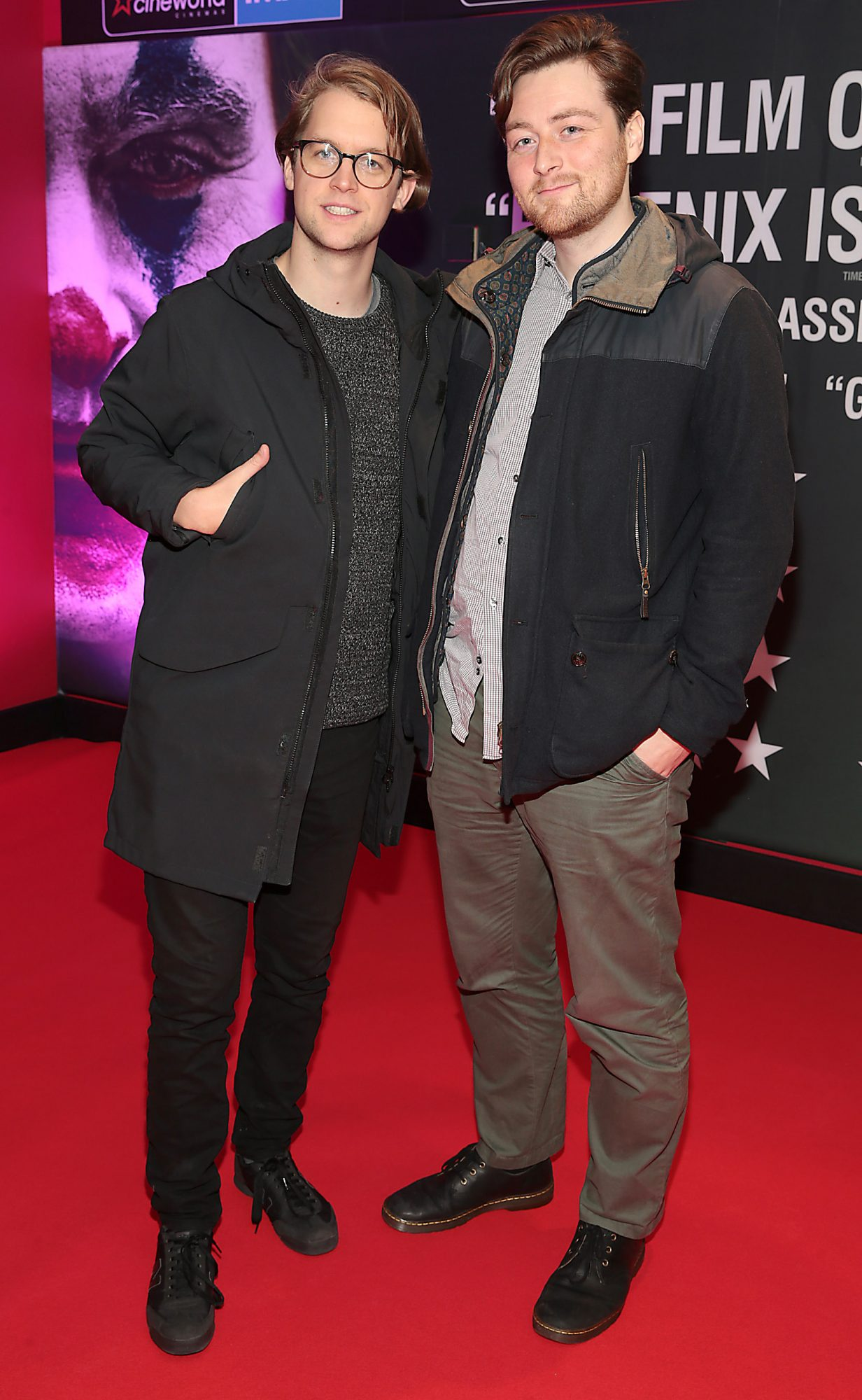 David Tapley and Tom Pierce at the Irish Premiere screening of Joker at Cineworld, Dublin. Pic: Brian McEvoy.