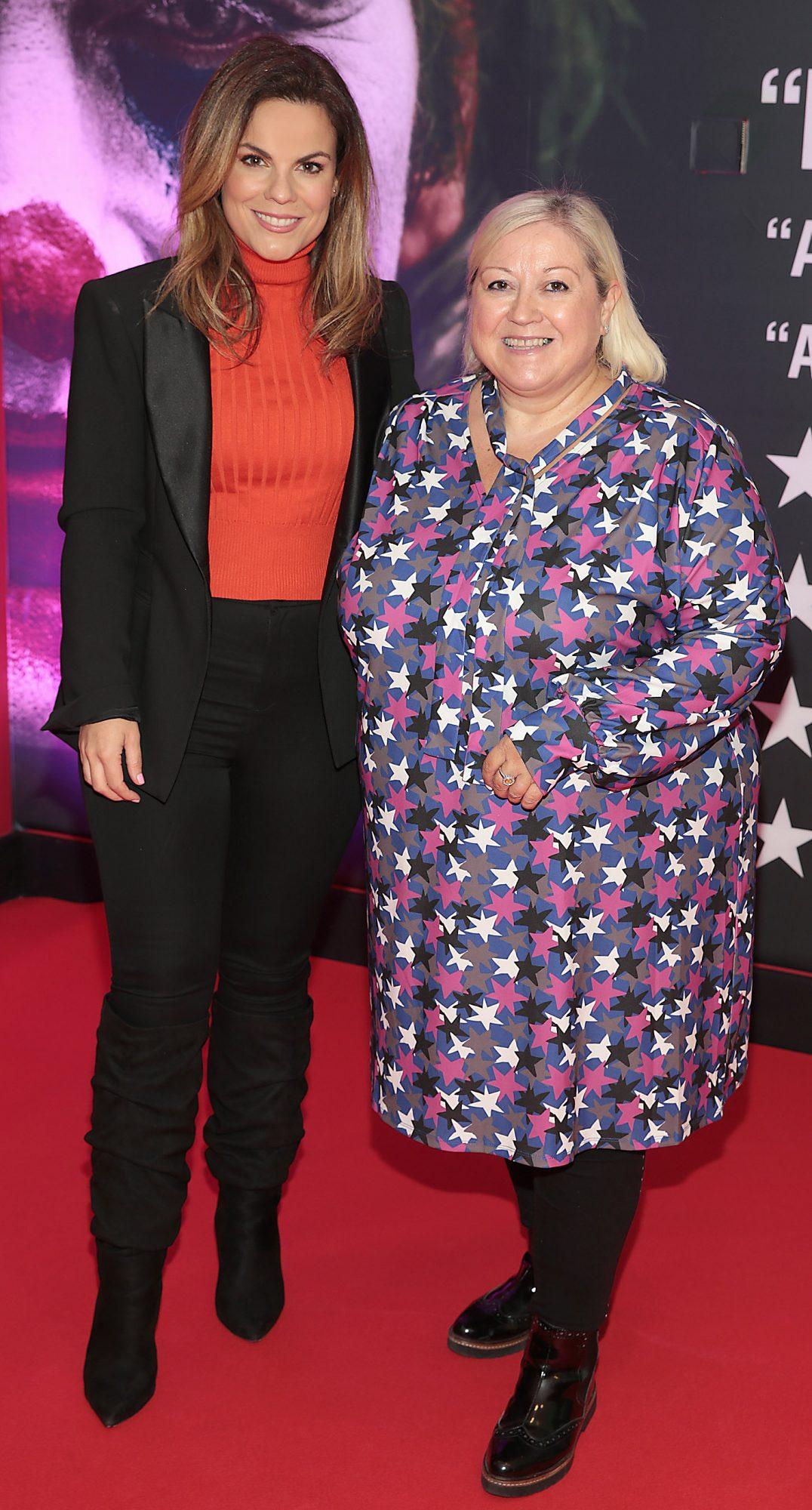 Avila Lipsett and Carmel Breheney  at the Irish Premiere screening of Joker at Cineworld, Dublin. Pic: Brian McEvoy.