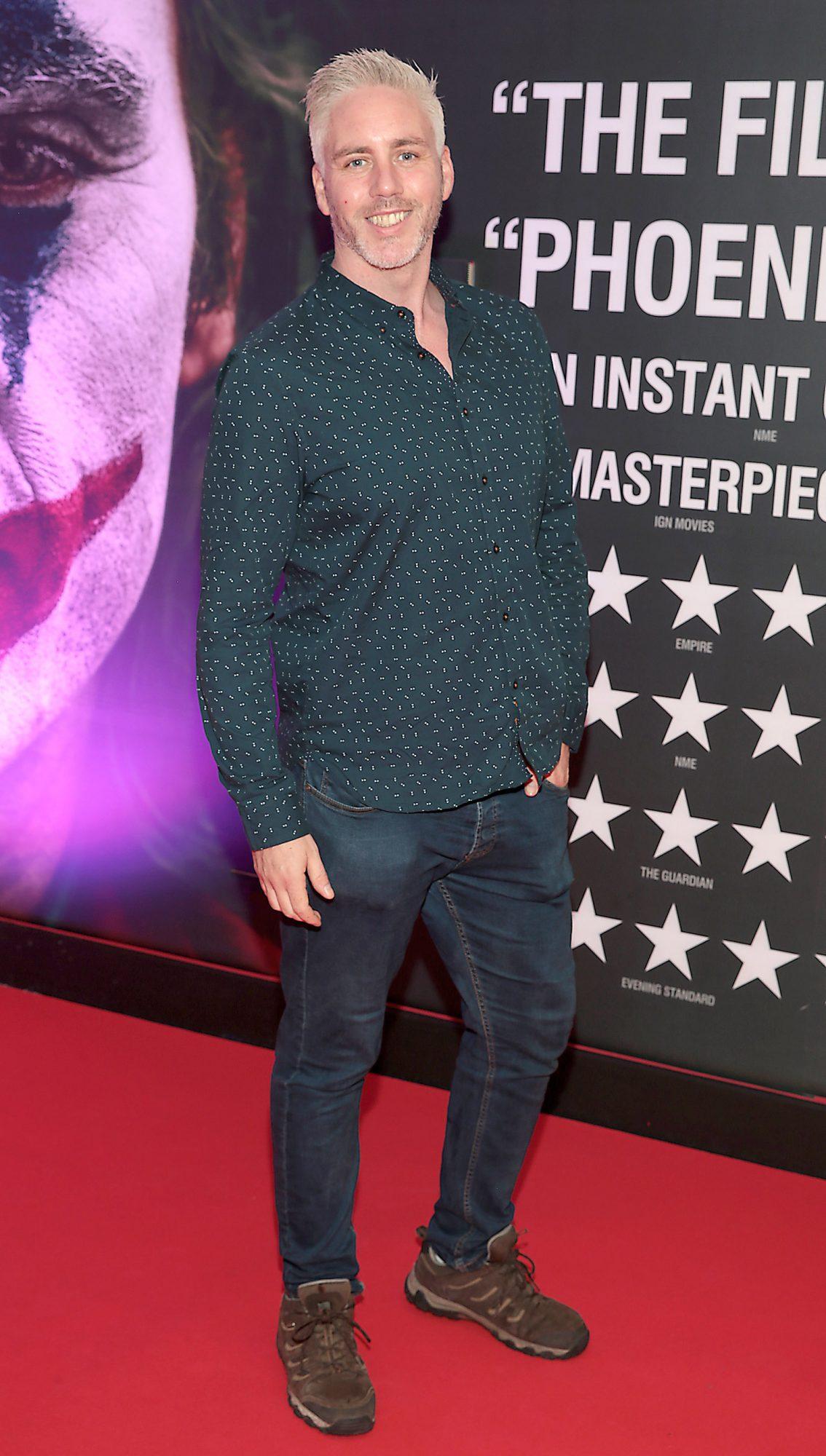 Paddy Murphy  at the Irish Premiere screening of Joker at Cineworld, Dublin. Pic: Brian McEvoy.