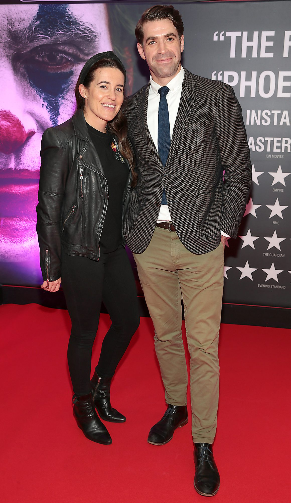 Katie Farrell and Kirk McCormack at the Irish Premiere screening of Joker at Cineworld, Dublin. Pic: Brian McEvoy.