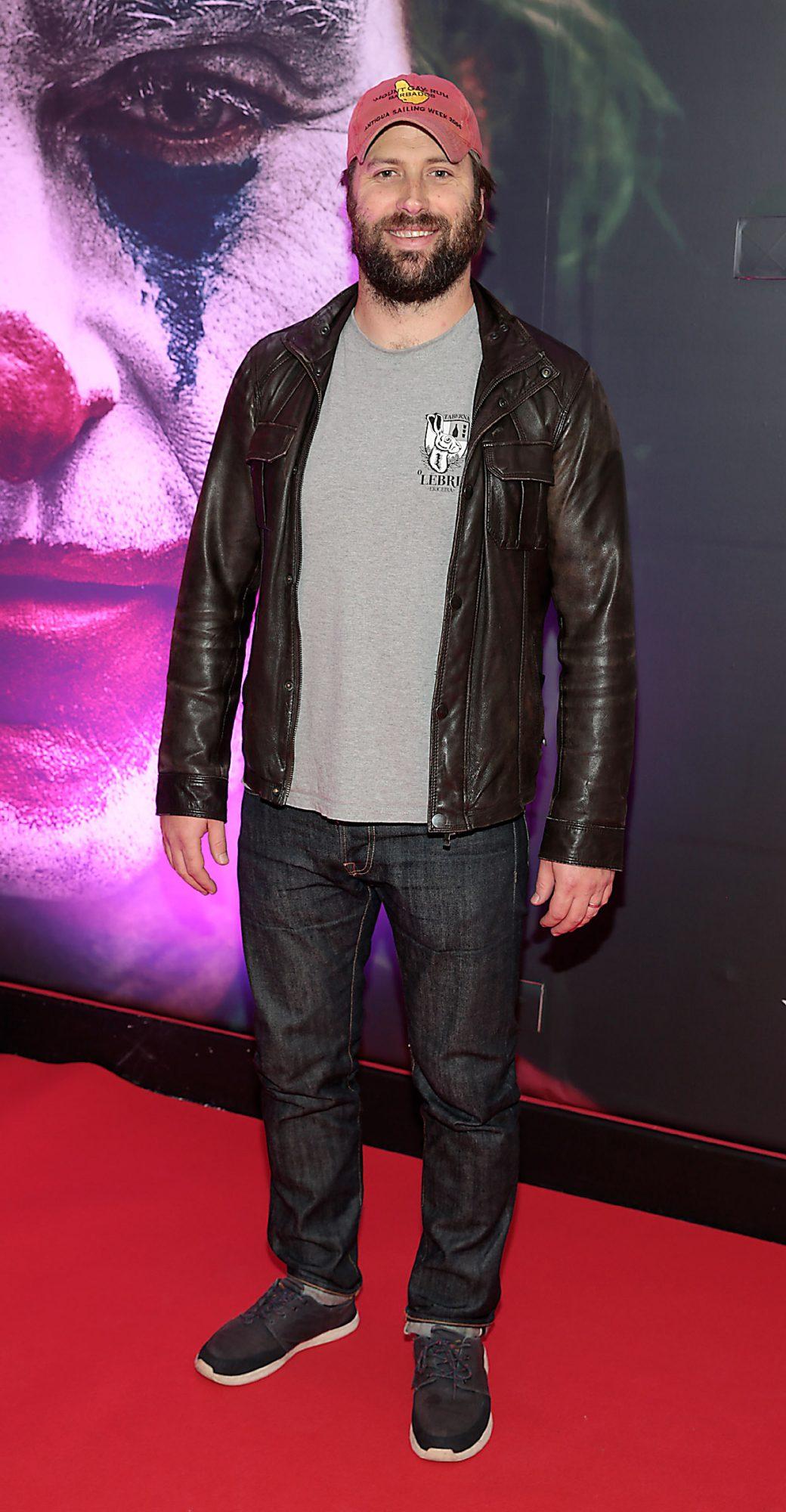David Lawrence at the Irish Premiere screening of Joker at Cineworld, Dublin. Pic: Brian McEvoy.