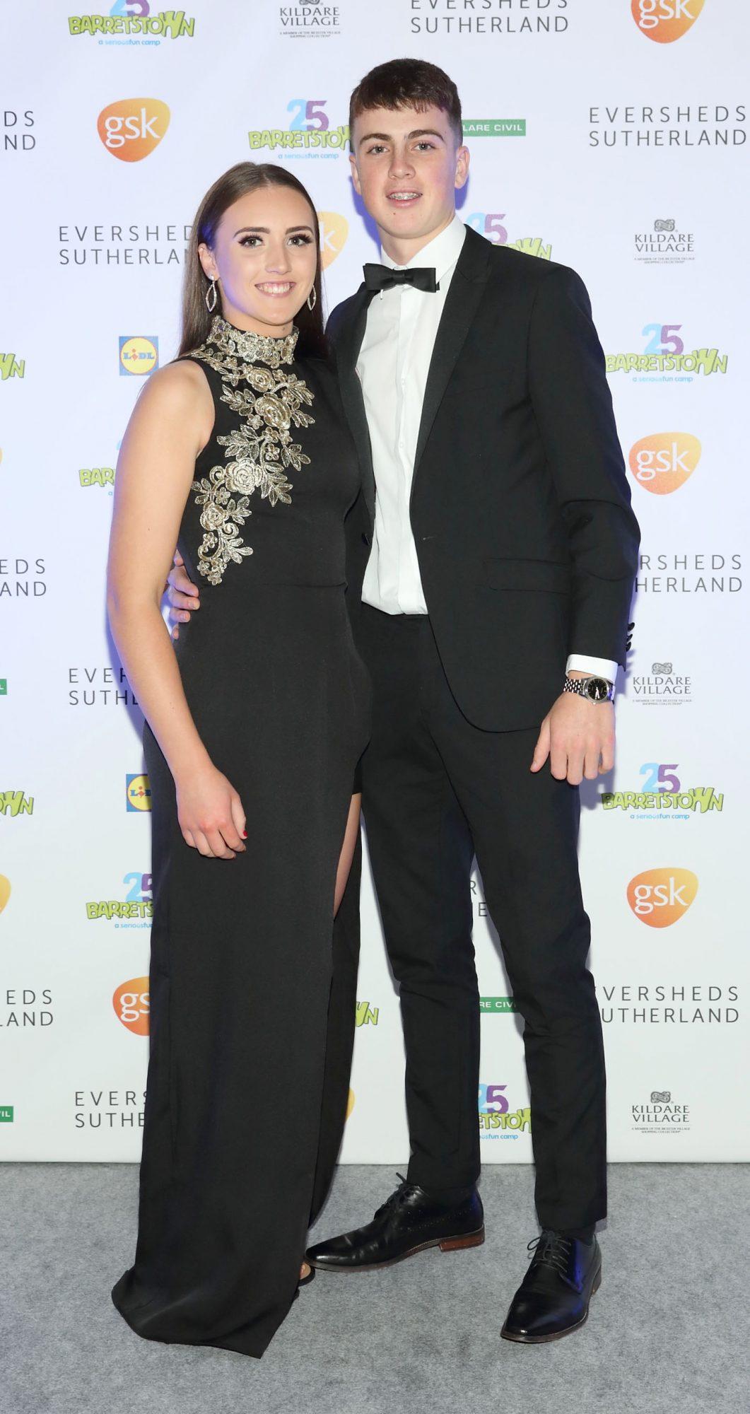Laura Cahill and Conan Boran at the Barretstown 25th Anniversary Gala Ball at the RDS, Basllsbridge, Dublin.  Pic: Brian McEvoy Photography