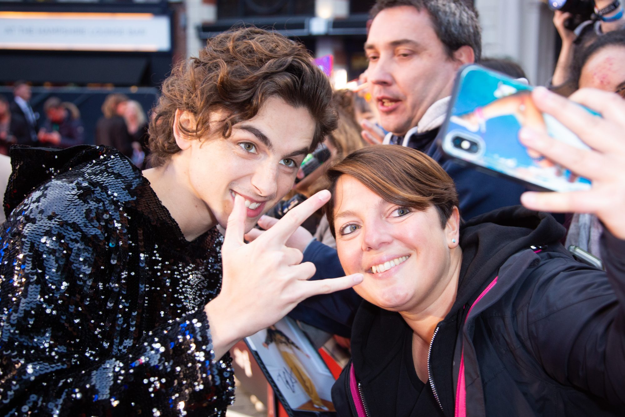 Timothee Chalamet at The King UK Premiere during the 63rd BFI London Film Festival at Odeon Luxe Leicester Square on 3rd October 2019.  Photos: Netflix