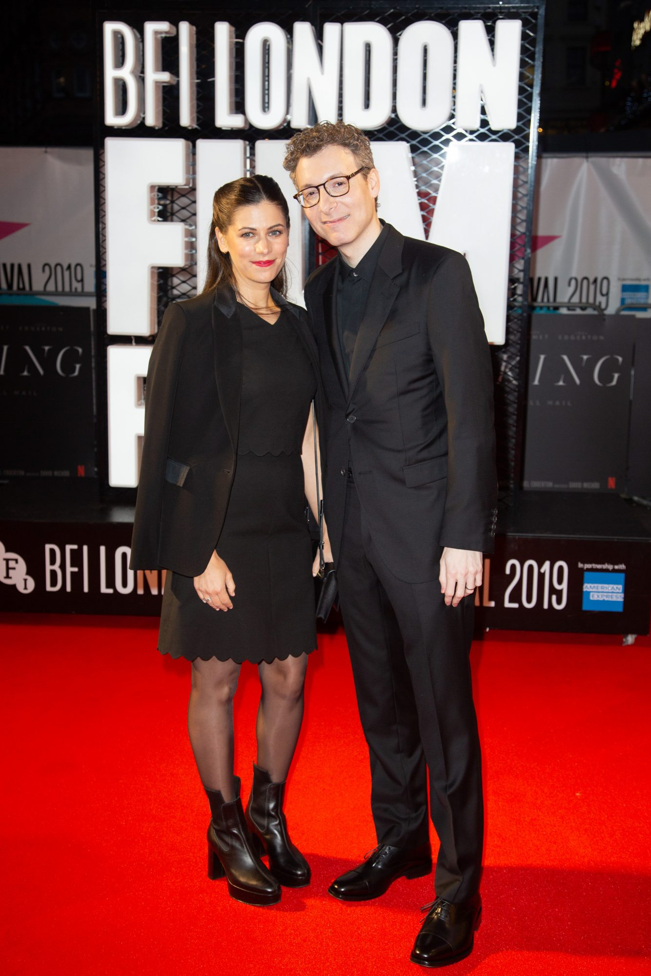 Nicholas Britell and Caitlin Sullivan at The King UK Premiere during the 63rd BFI London Film Festival at Odeon Luxe Leicester Square on 3rd October 2019.  Photos: Netflix