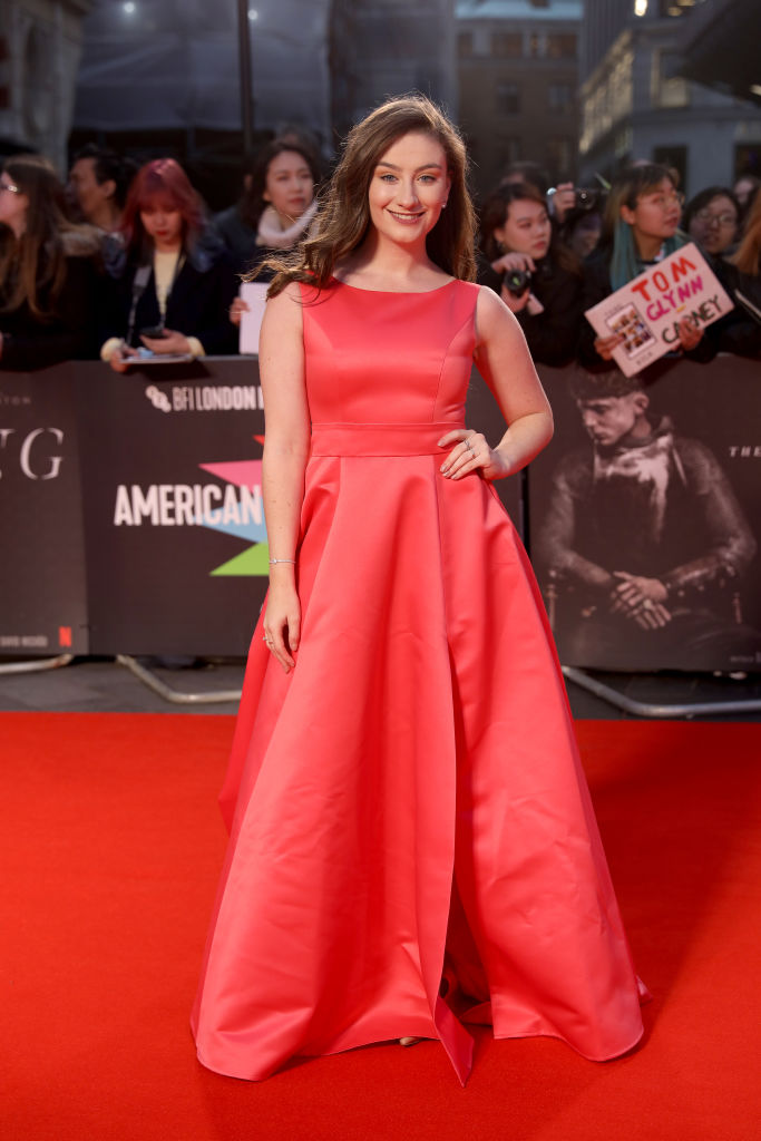 Amber Doig-Thorne attends The King UK Premiere during the 63rd BFI London Film Festival at Odeon Luxe Leicester Square on 3rd October 2019. (Photo by Lia Toby/Getty Images for BFI)