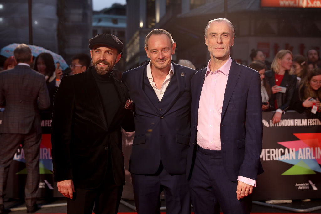 Philip Rosch and Steven Elder attend The King UK Premiere during the 63rd BFI London Film Festival at Odeon Luxe Leicester Square on 3rd October 2019. (Photo by Lia Toby/Getty Images for BFI)