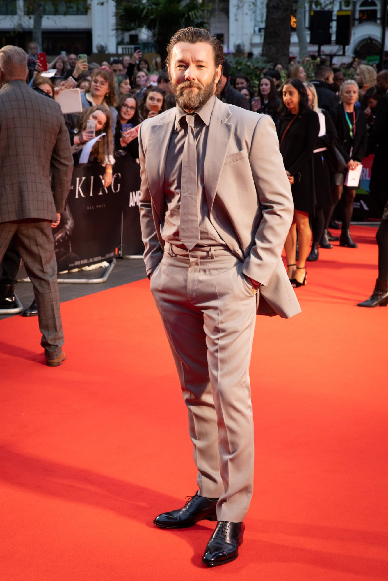 Joel Edgerton at The King UK Premiere during the 63rd BFI London Film Festival at Odeon Luxe Leicester Square on 3rd October 2019.  Photos: Netflix