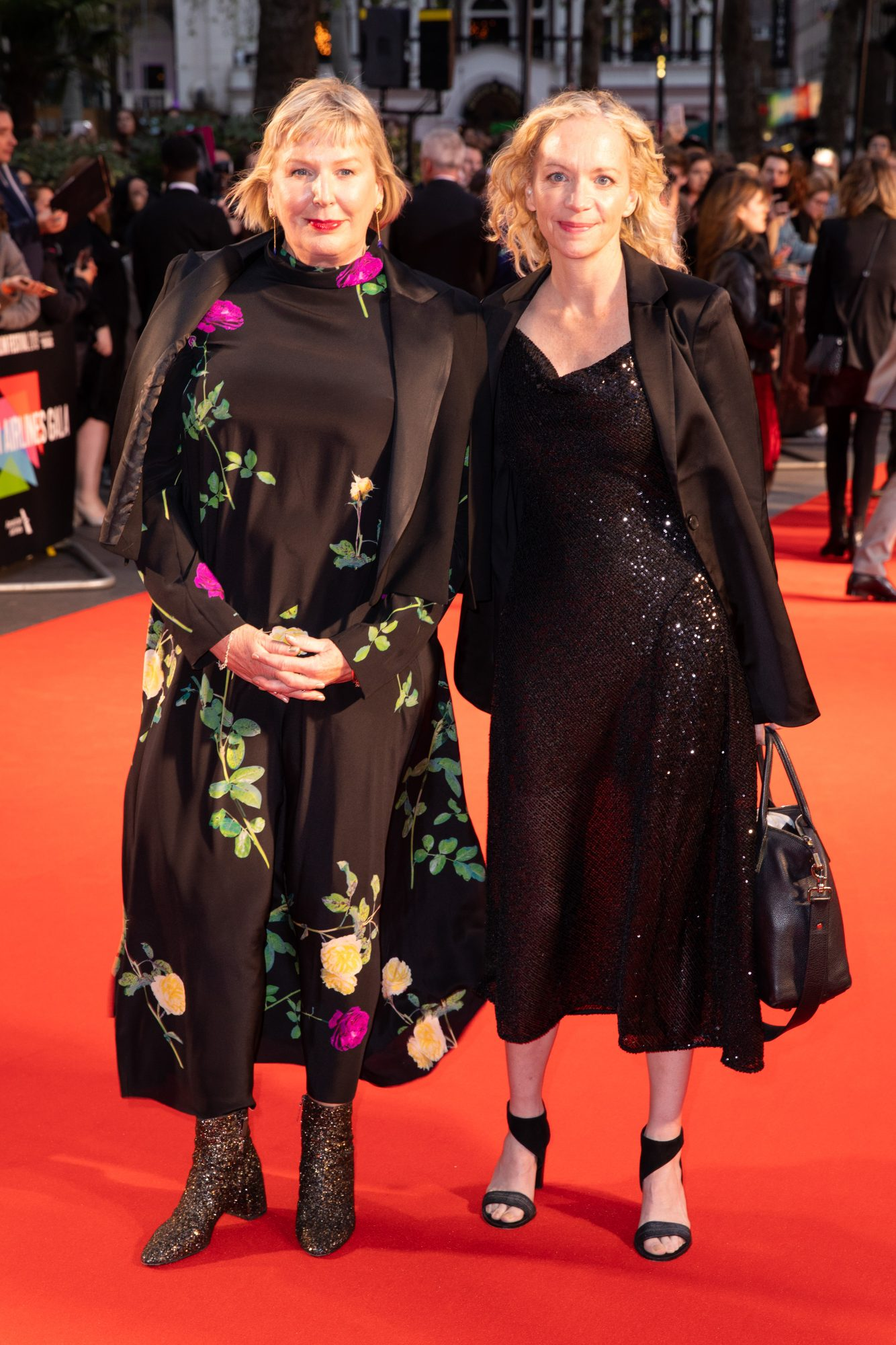 Liz Watts and Dede Gardner at The King UK Premiere during the 63rd BFI London Film Festival at Odeon Luxe Leicester Square on 3rd October 2019.  Photos: Netflix