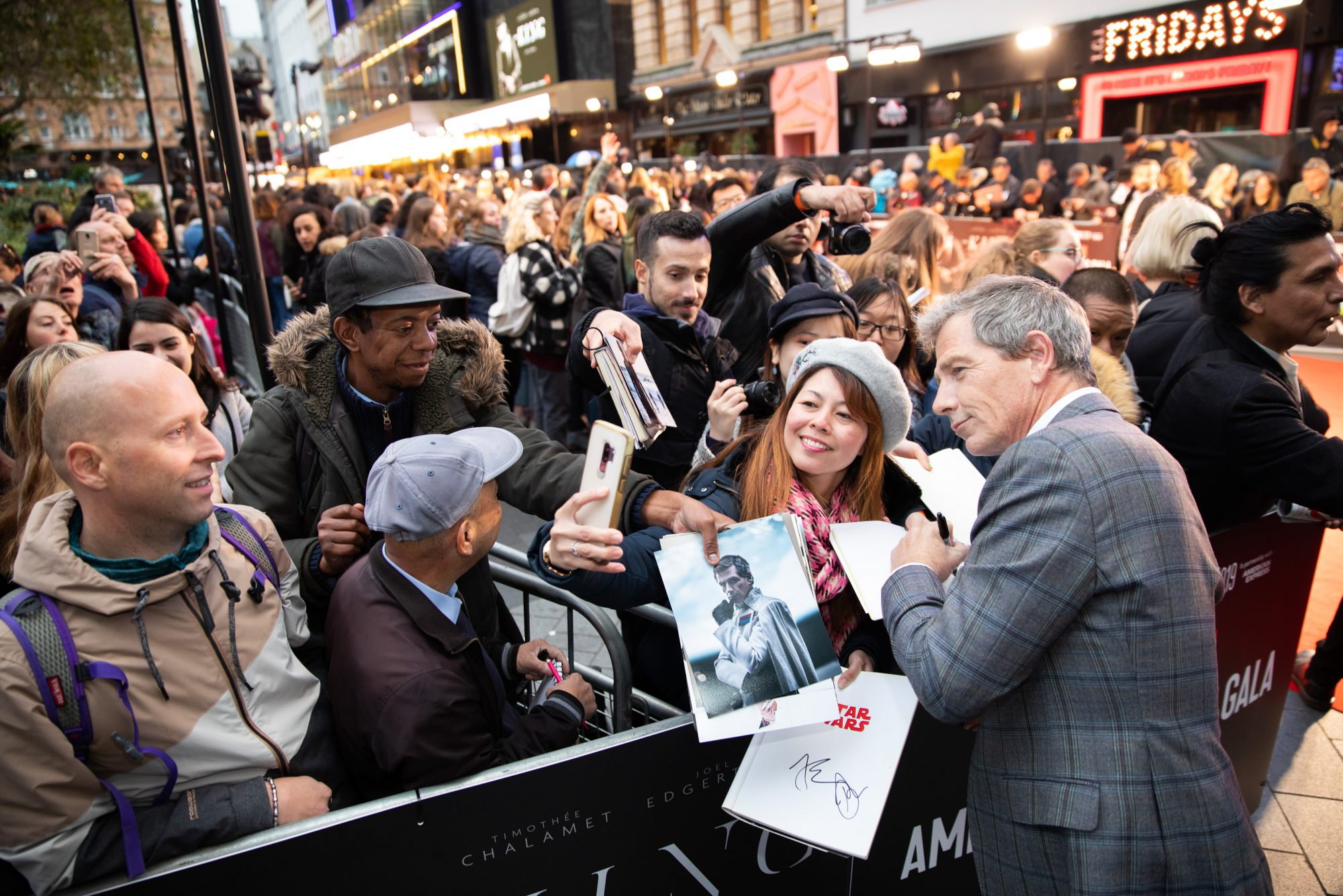 Ben Mendelsohn at The King UK Premiere during the 63rd BFI London Film Festival at Odeon Luxe Leicester Square on 3rd October 2019.  Photos: Netflix