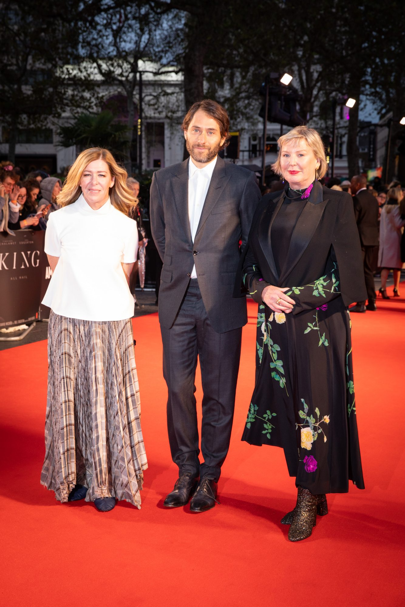 Dede Gardner, Jeremy Kleiner and Liz Watts at The King UK Premiere during the 63rd BFI London Film Festival at Odeon Luxe Leicester Square on 3rd October 2019.  Photos: Netflix
