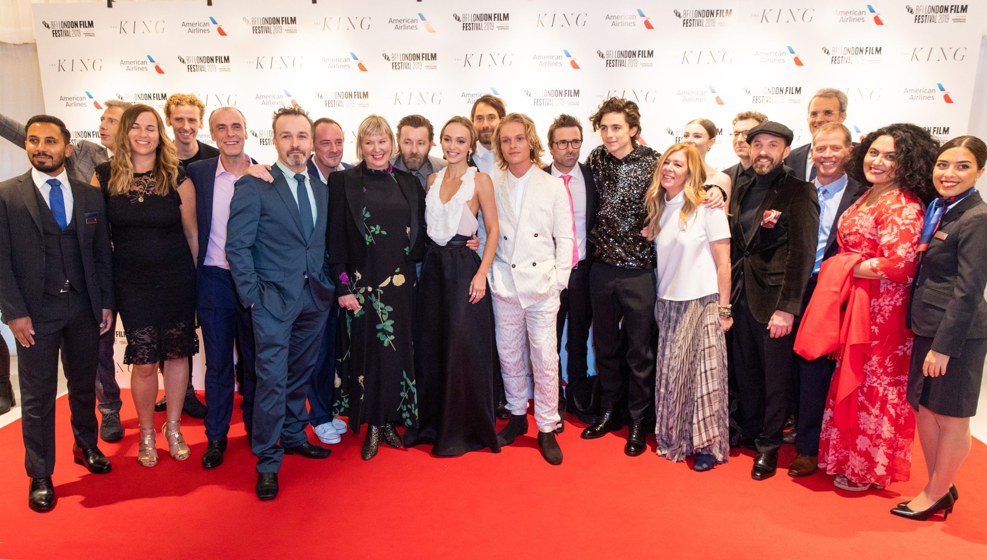 Cast, Crew and Partners of The King at The King UK Premiere during the 63rd BFI London Film Festival at Odeon Luxe Leicester Square on 3rd October 2019.  Photos: Netflix