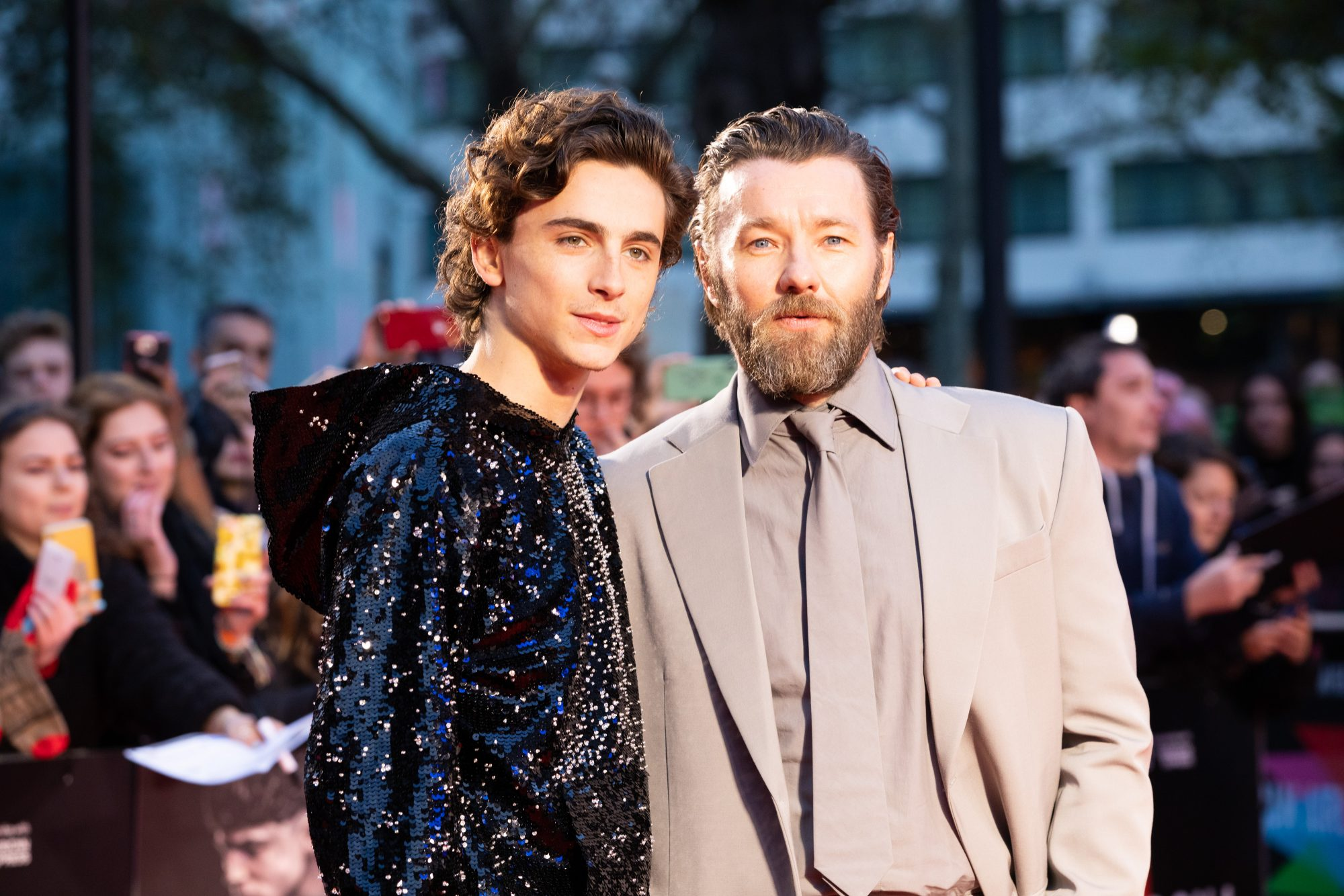 Timothee Chalamet and Joel Edgerton at The King UK Premiere during the 63rd BFI London Film Festival at Odeon Luxe Leicester Square on 3rd October 2019.  Photos: Netflix