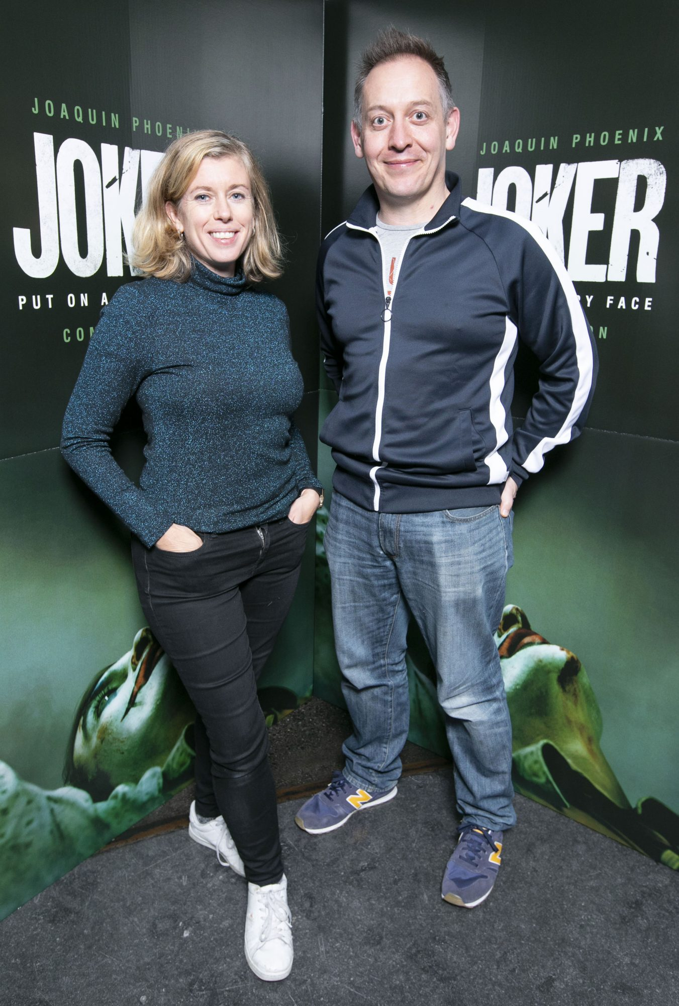 Lesley Conroy and Stewart Roche at the special 70mm screening of Todd Phillips Joker at the IFI Dublin. Pic: Brian McEvoy Photography
