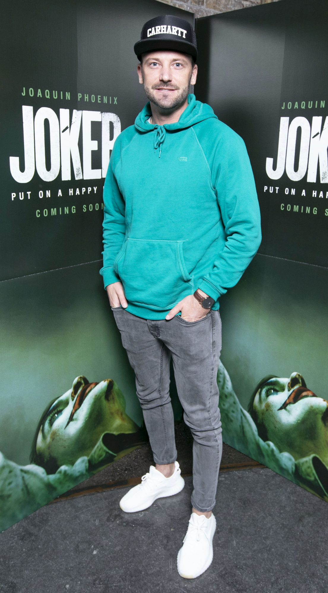 Stephen McCann at the special 70mm screening of Todd Phillips Joker at the IFI Dublin. Pic: Brian McEvoy Photography