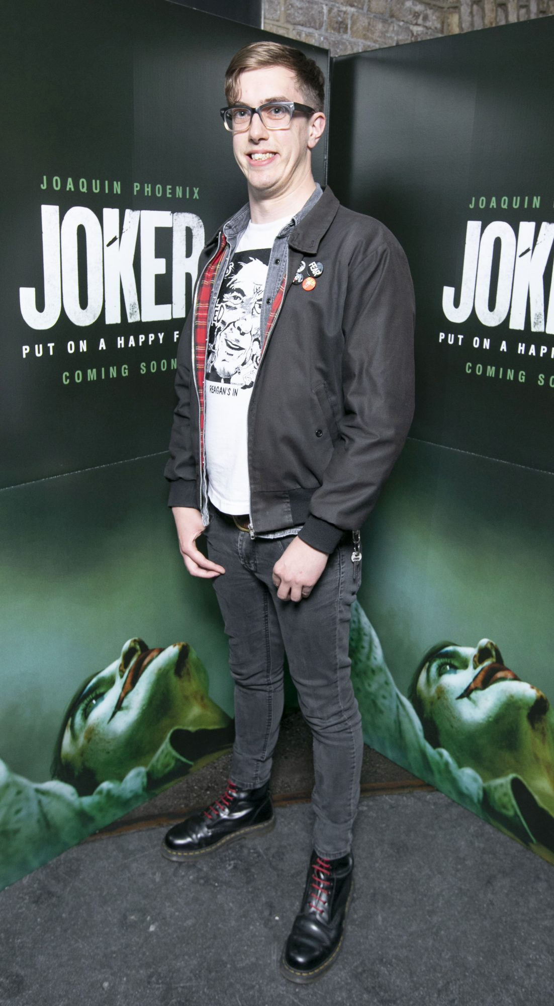 Greg Burrowes at the special 70mm screening of Todd Phillips Joker at the IFI Dublin. Pic: Brian McEvoy Photography