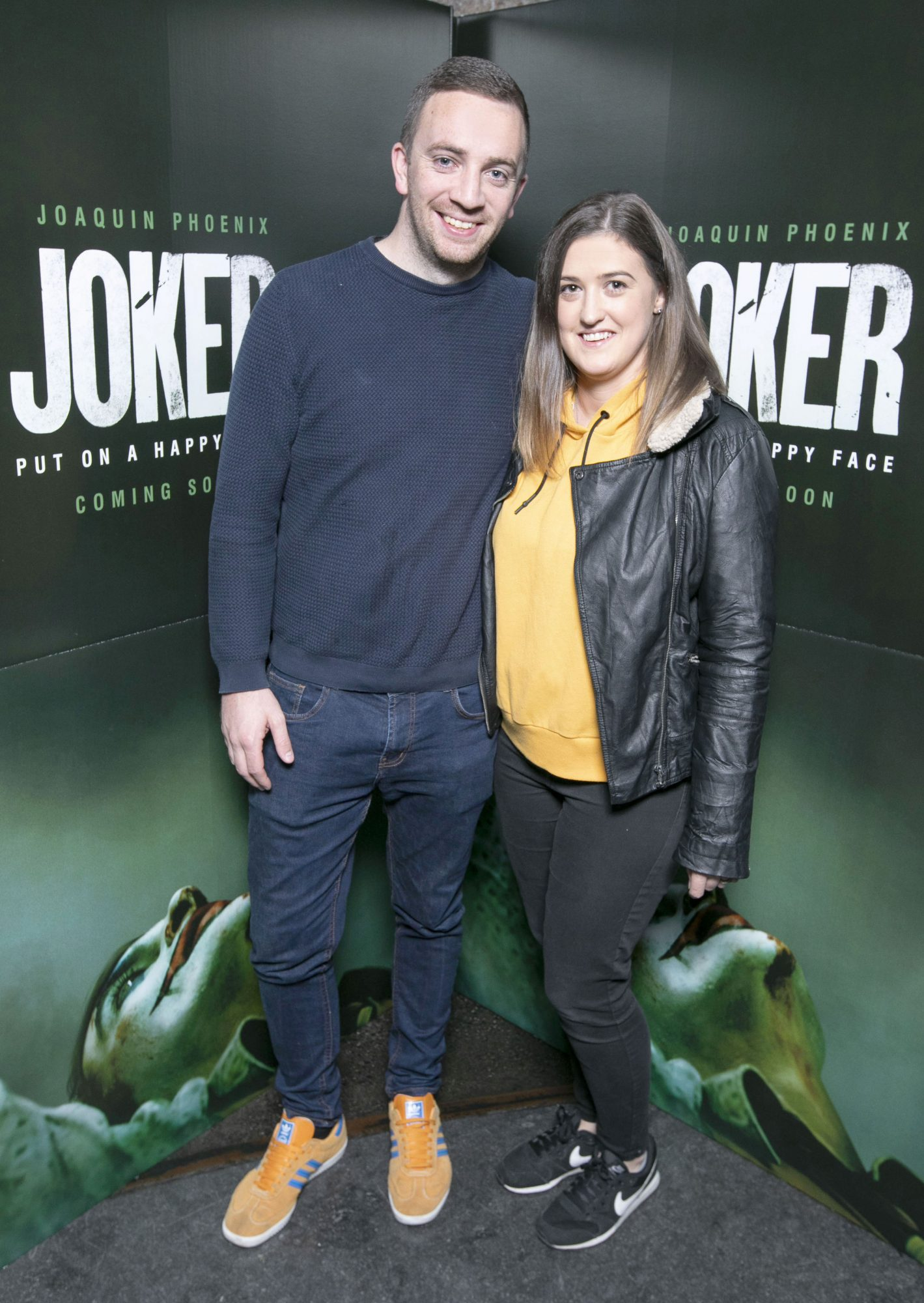 Thomas Davidson and Stephanie Davidson at the special 70mm screening of Todd Phillips Joker at the IFI Dublin. Pic: Brian McEvoy Photography