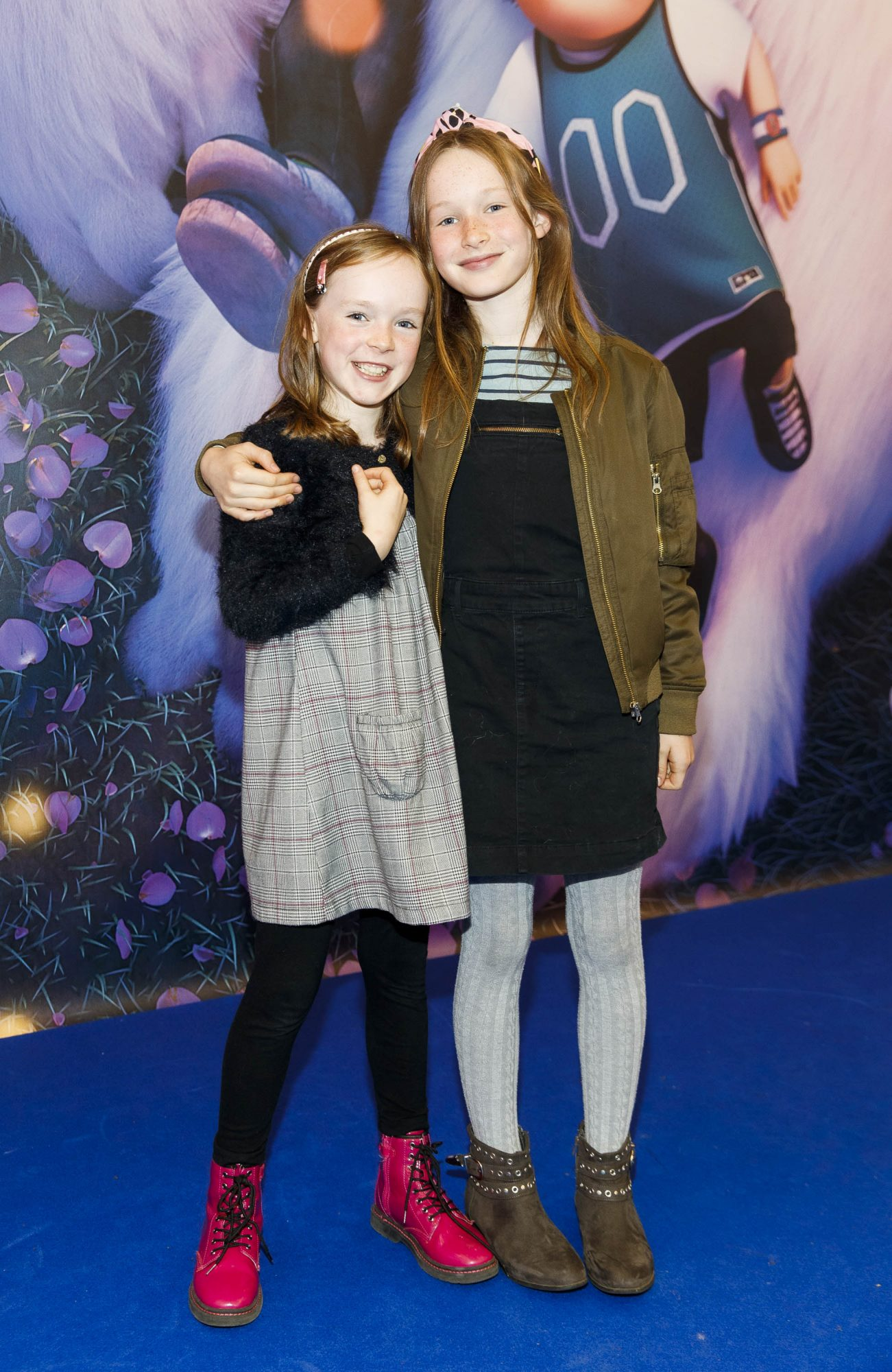 Fraya McKeown (8) and Clara McKeown (10)  from Walkindtown pictured at a special preview screening of DreamWorks Animation ABOMINABLE at Odeon Point Square, Dublin.  Picture Andres Poveda