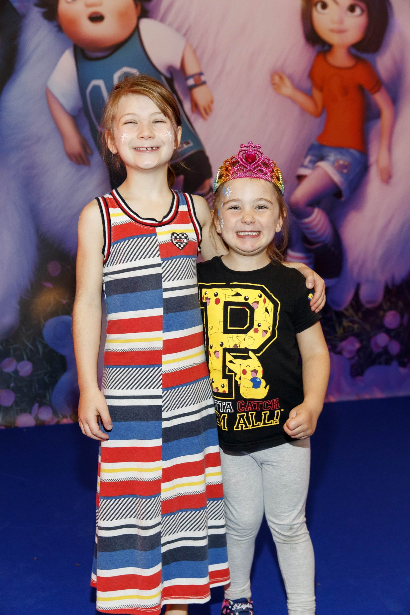 Daisy Serman (7) and Esme Walker (4) pictured at a special preview screening of DreamWorks Animation ABOMINABLE at Odeon Point Square, Dublin. Picture Andres Poveda