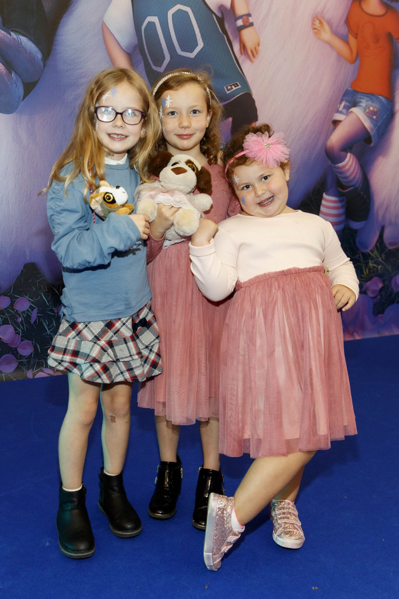 Robyn Aslan (7),  Alexranda and Andrea Calmus (4) pictured at a special preview screening of DreamWorks Animation ABOMINABLE at Odeon Point Square, Dublin. Picture Andres Poveda
