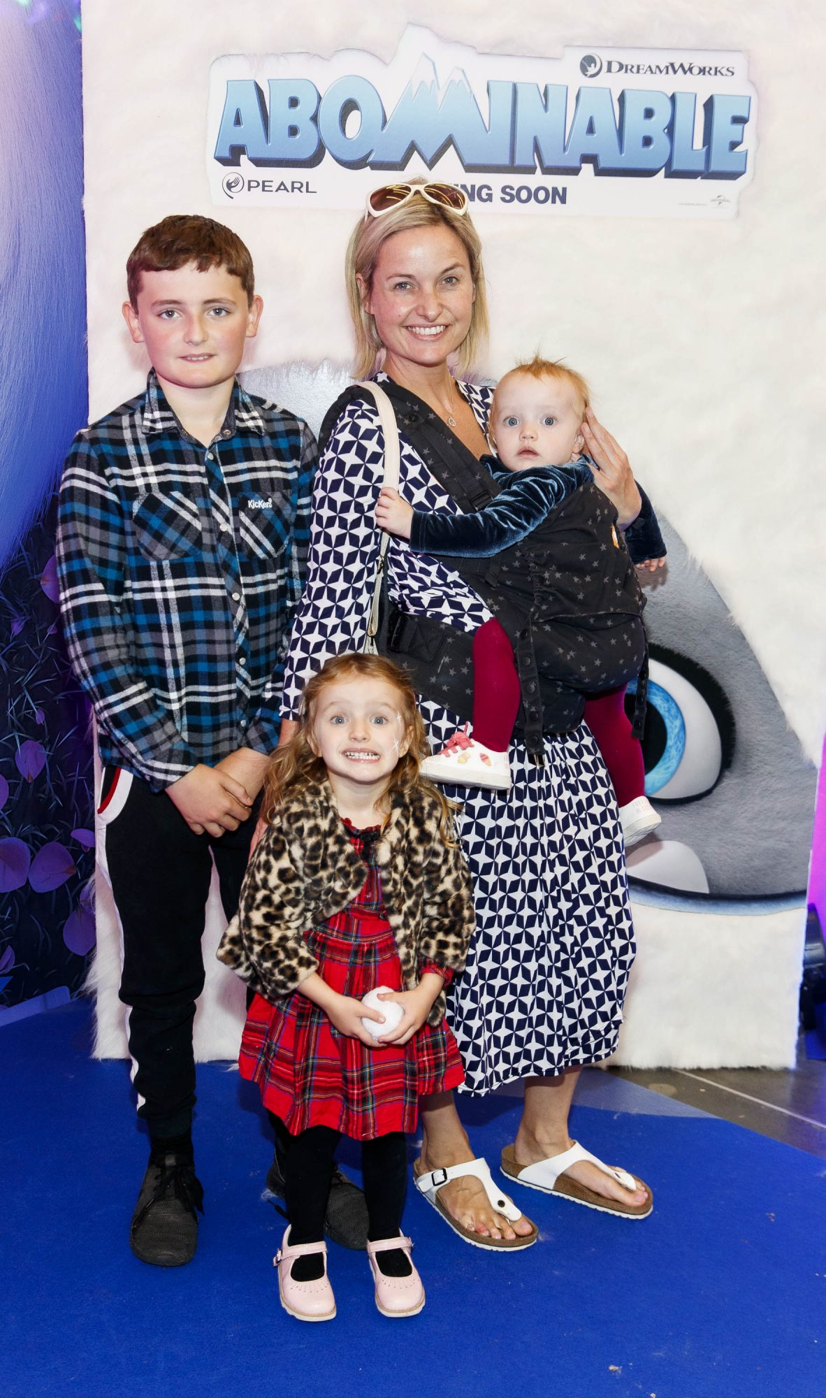 Siobhan O'Connor with James McNally, Erin Joan Norton and Éila Lorna Norton pictured at a special preview screening of DreamWorks Animation ABOMINABLE at Odeon Point Square, Dublin. Picture Andres Poveda