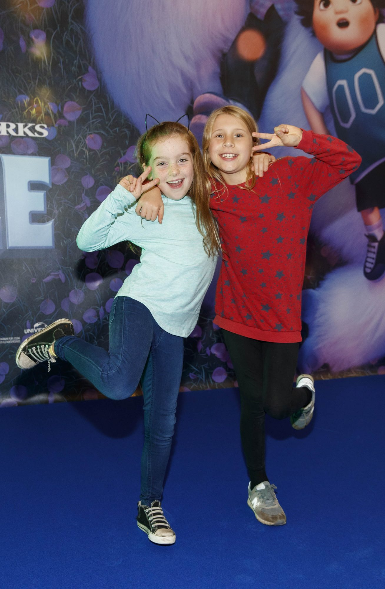 Moana Leydon and Sadhbh McGee pictured at a special preview screening of DreamWorks Animation ABOMINABLE at Odeon Point Square, Dublin. Picture Andres Poveda