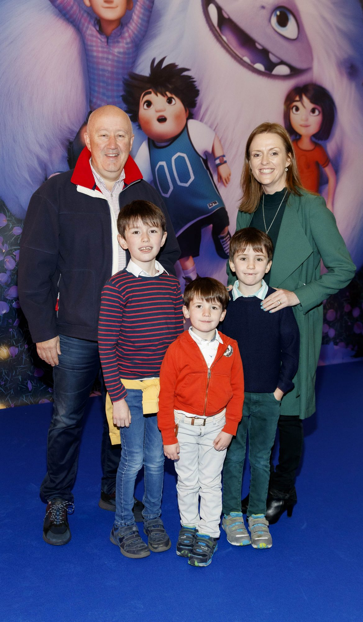 David and Susan Boyle with children, Daniel (9) Eoin (4), Mathew (7) pictured at a special preview screening of DreamWorks Animation ABOMINABLE at Odeon Point Square, Dublin. Picture Andres Poveda
