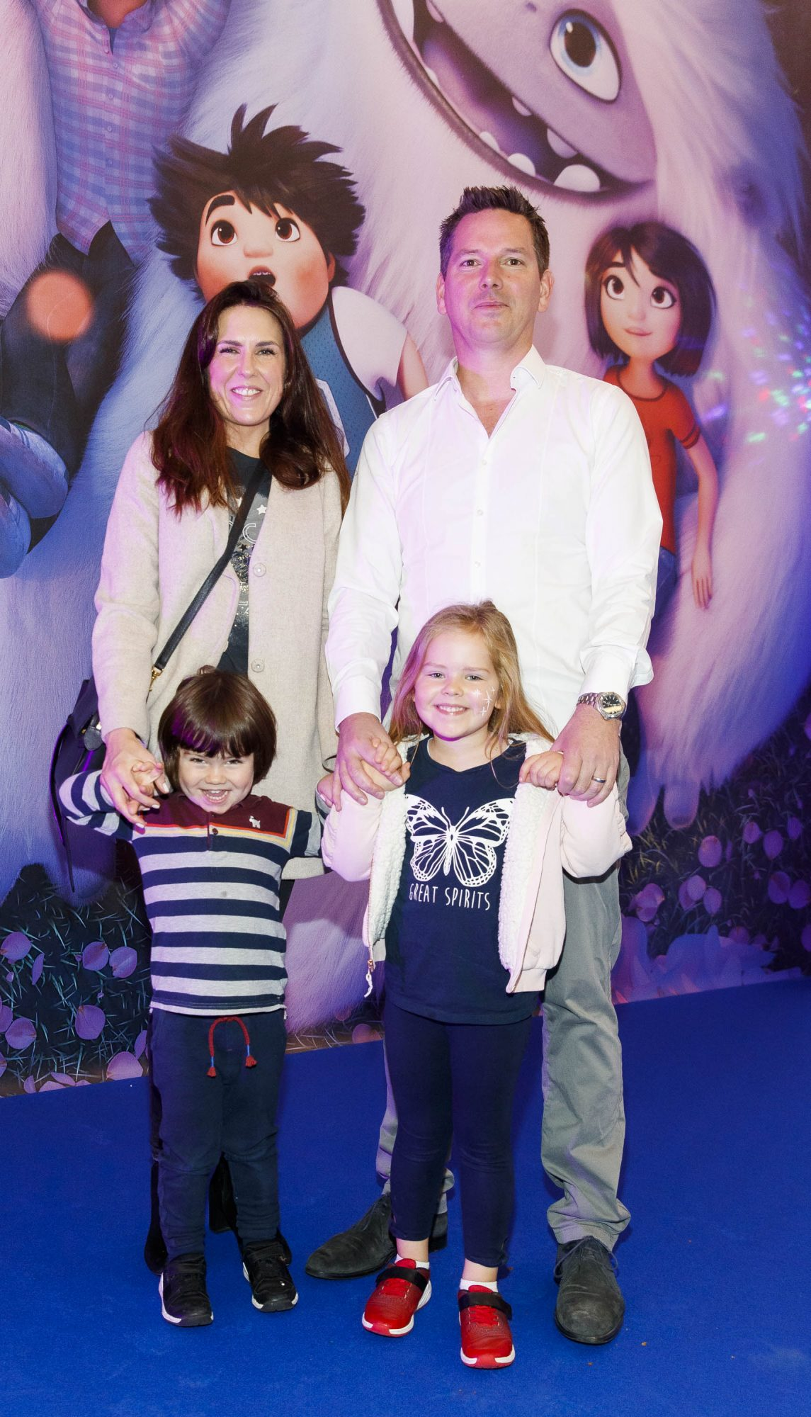 Roma and Eoin O'Connor with children James (3) and Lidia (5) pictured at a special preview screening of DreamWorks Animation ABOMINABLE at Odeon Point Square, Dublin. Picture Andres Poveda