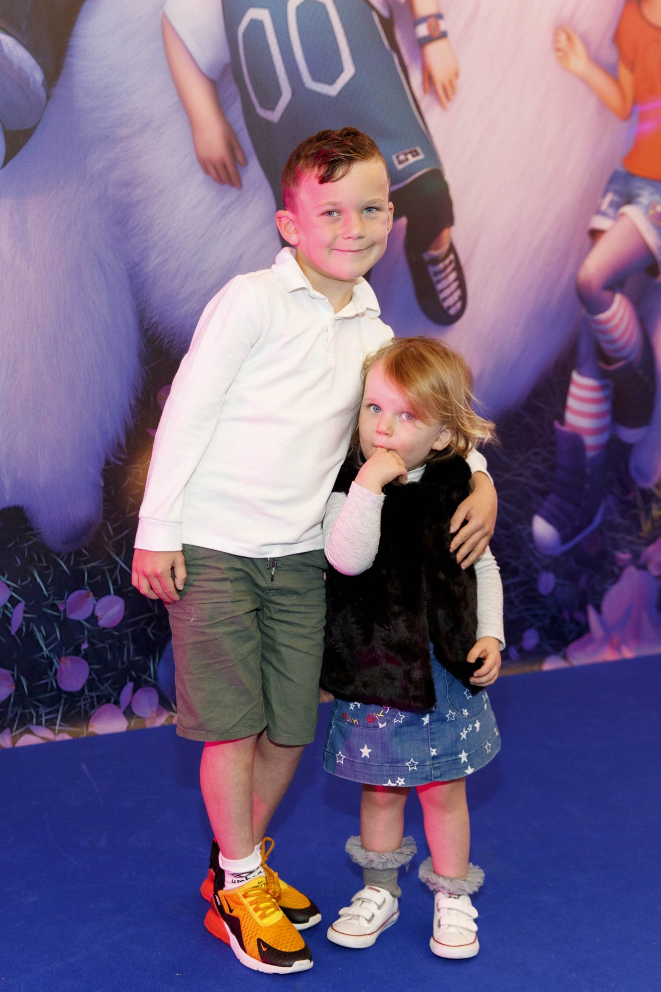 Ryan (8) and Lillie Breslin (2) pictured at a special preview screening of DreamWorks Animation ABOMINABLE at Odeon Point Square, Dublin. Picture Andres Poveda