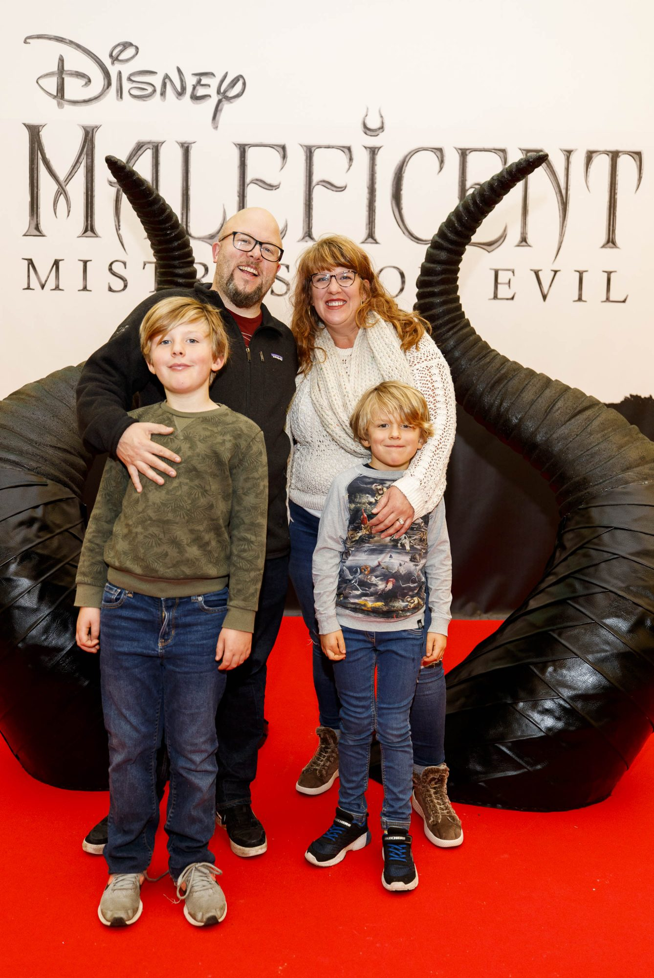 Jessica Ryan with Casper (9) and Beau (6) pictured at the special family preview screening of Disney's MALEFICENT: MISTRESS OF EVIL, in the Odeon Point Village. Picture Andres Poveda