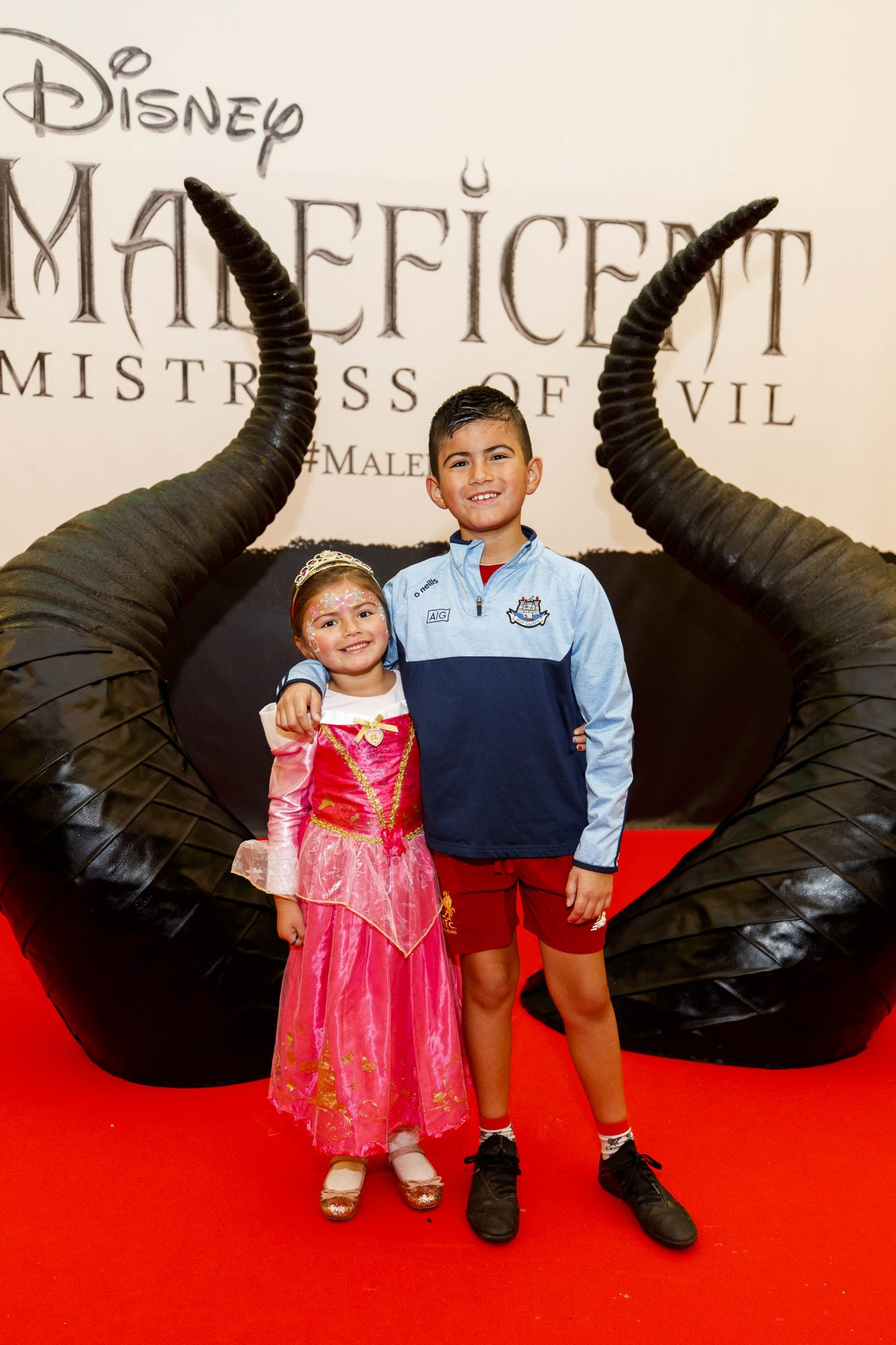 Roisin (4) and Sean Parrales-Molloy (9) from Blessington pictured at the special family preview screening of Disney's MALEFICENT: MISTRESS OF EVIL, in the Odeon Point Village. Picture Andres Poveda