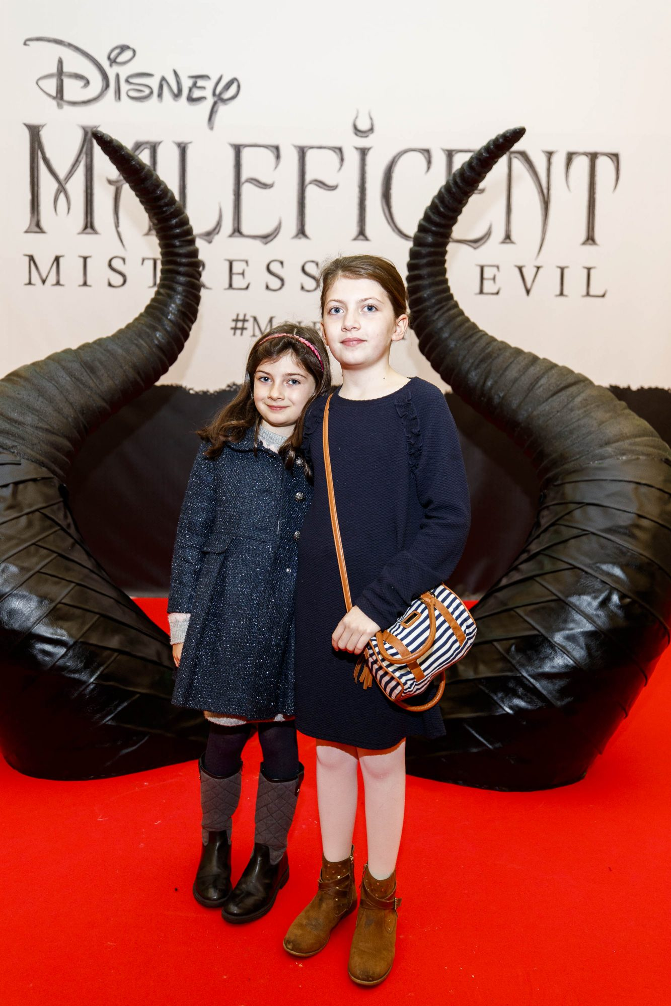Millie Driver (7) and Ava Driver (10) pictured at the special family preview screening of Disney's MALEFICENT: MISTRESS OF EVIL, in the Odeon Point Village. Picture Andres Poveda