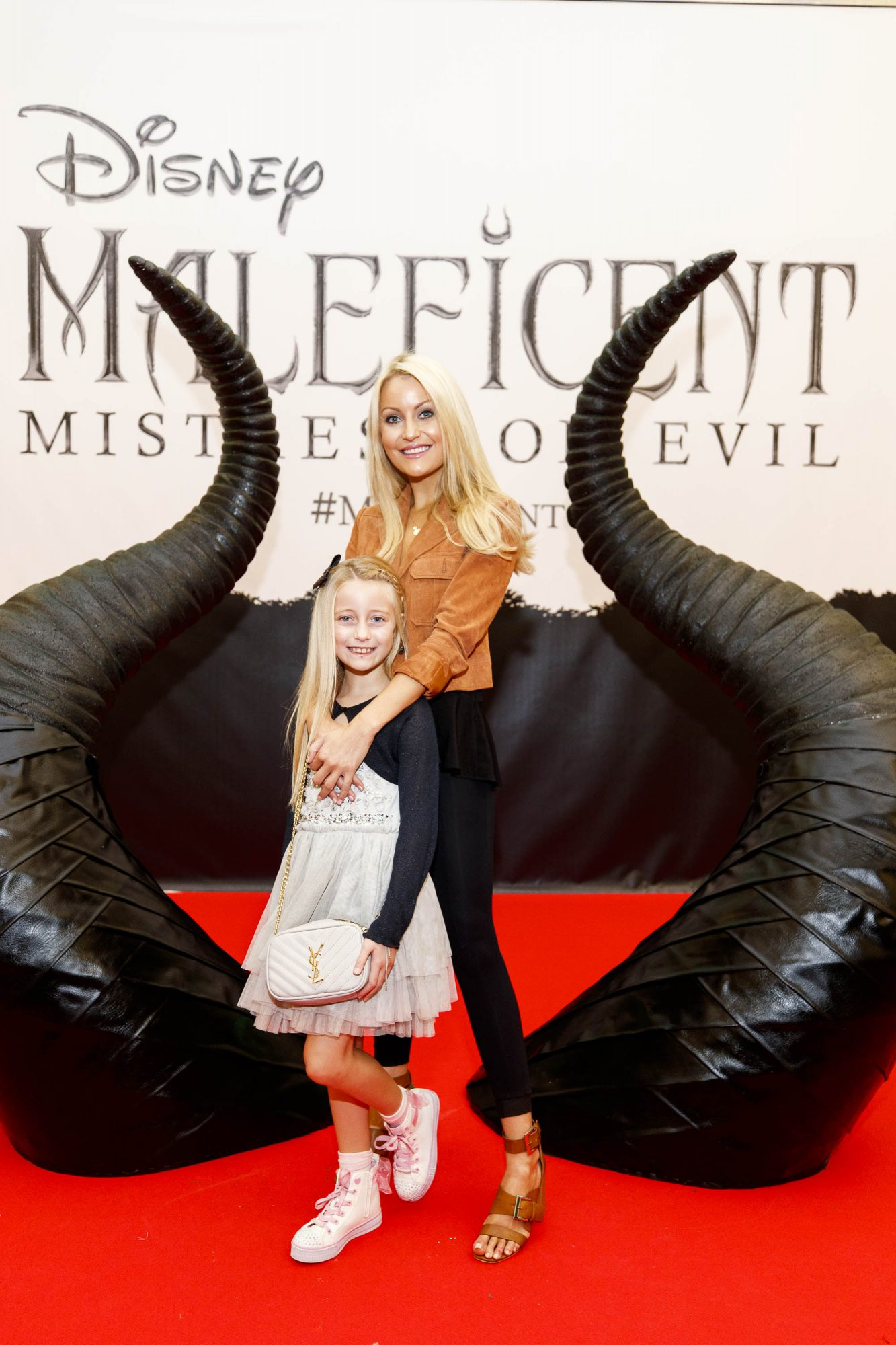 Kerri Nicole Blanc and daughter Kayla (8) pictured at the special family preview screening of Disney's MALEFICENT: MISTRESS OF EVIL, in the Odeon Point Village. Picture Andres Poveda