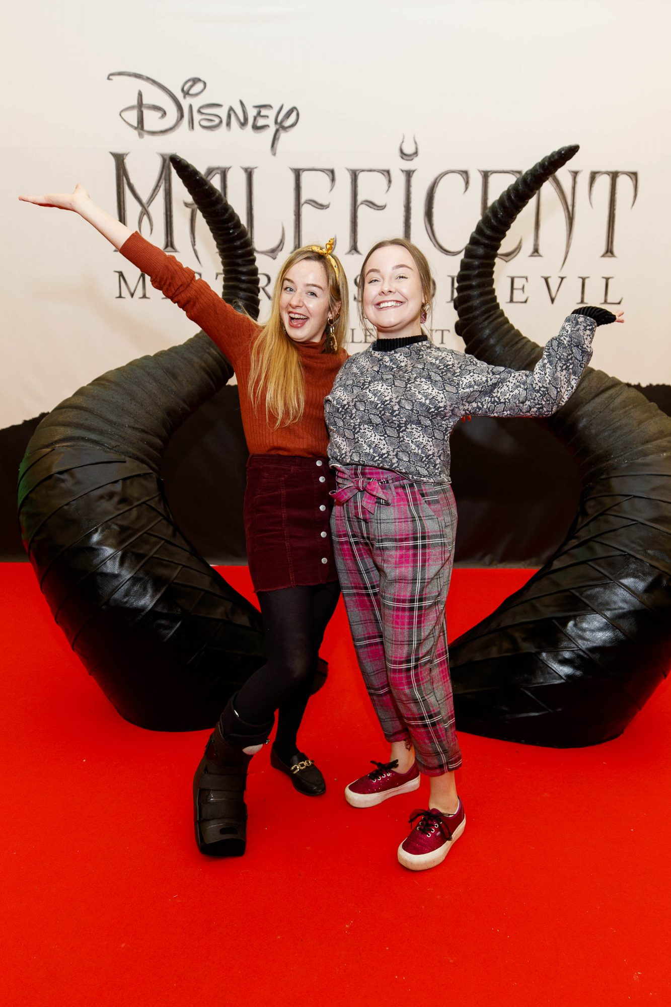 Lynne Guthrie and Nimah Malone pictured at the special family preview screening of Disney's MALEFICENT: MISTRESS OF EVIL, in the Odeon Point Village. Picture Andres Poveda