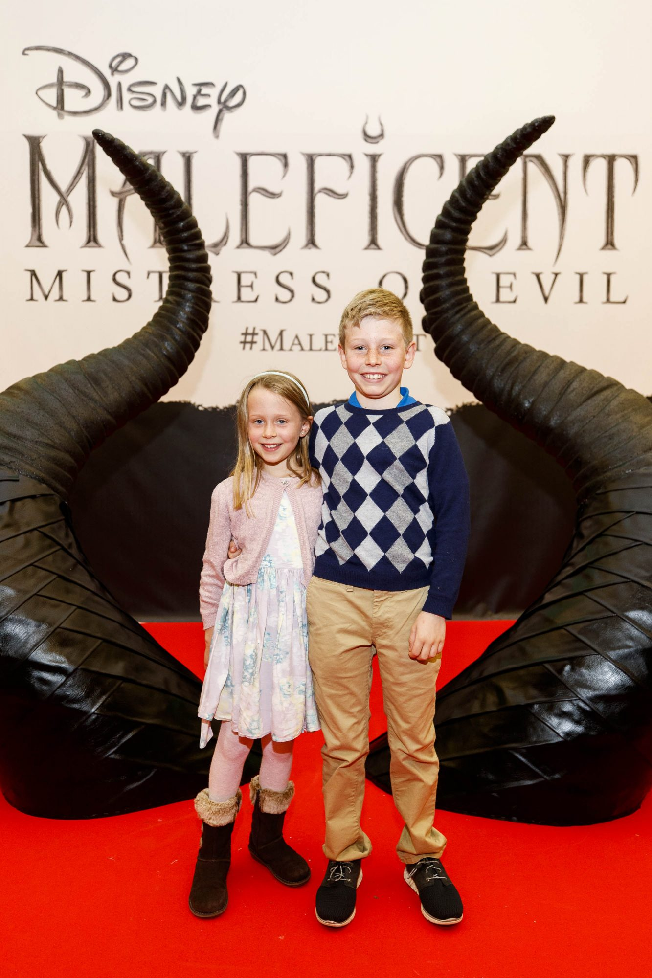 Chloe Grant (8) and James Grant (10) pictured at the special family preview screening of Disney's MALEFICENT: MISTRESS OF EVIL, in the Odeon Point Village. Picture Andres Poveda