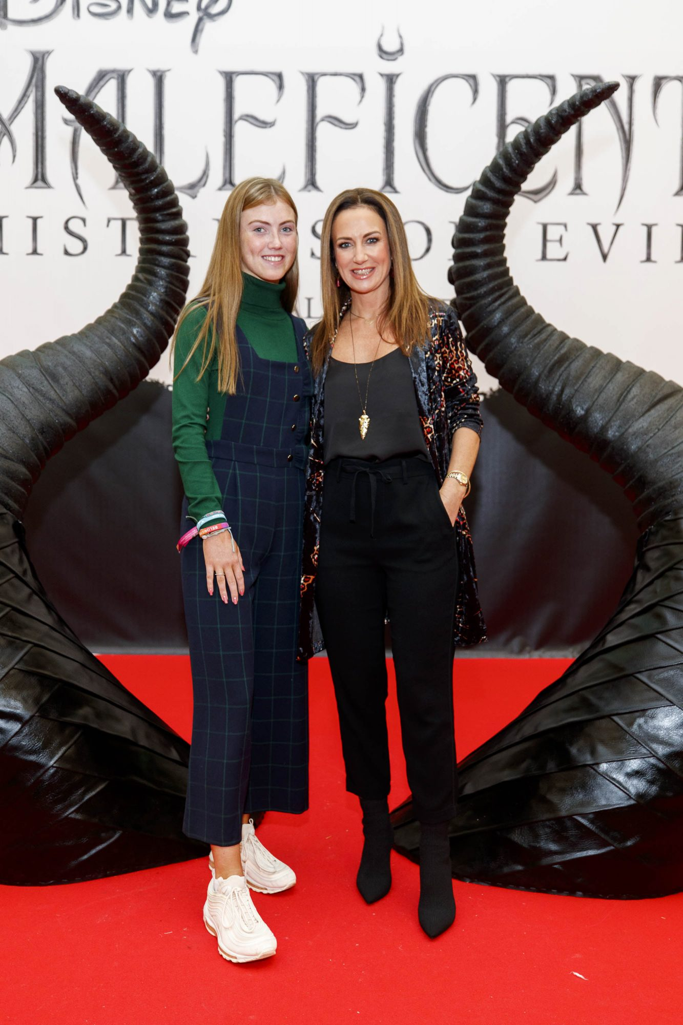Emelia and  Lorraine Keane pictured at the special family preview screening of Disney's MALEFICENT: MISTRESS OF EVIL, in the Odeon Point Village. Picture Andres Poveda