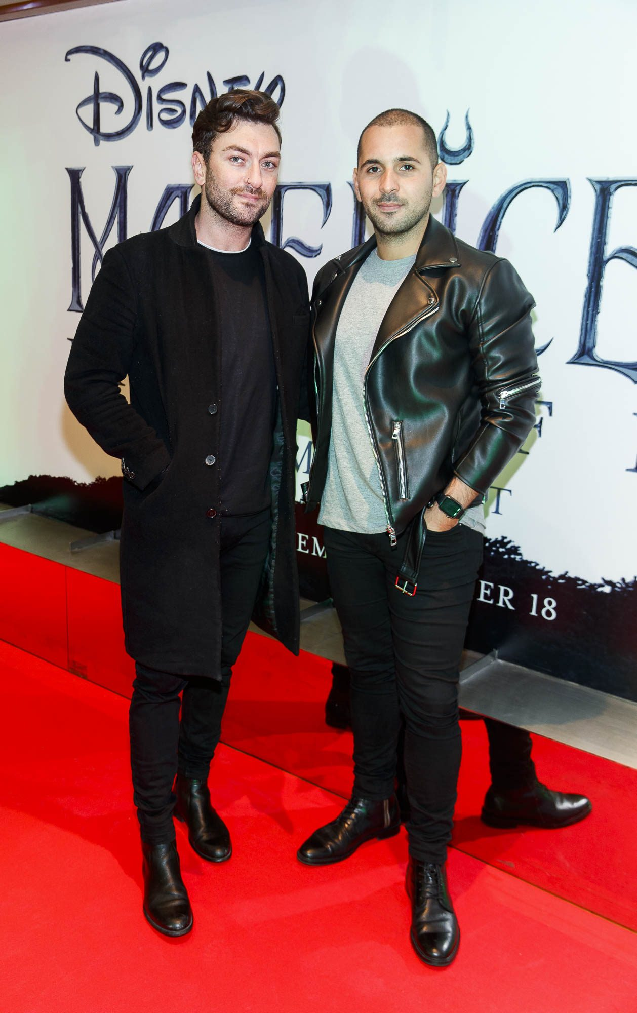 """Neil Ryan and Guil Ryan pictured a the special preview screening of Disney's """"Maleficent: Mistress of Evil' at the Light House Cinema, Dublin. Picture: Andres Poveda"""