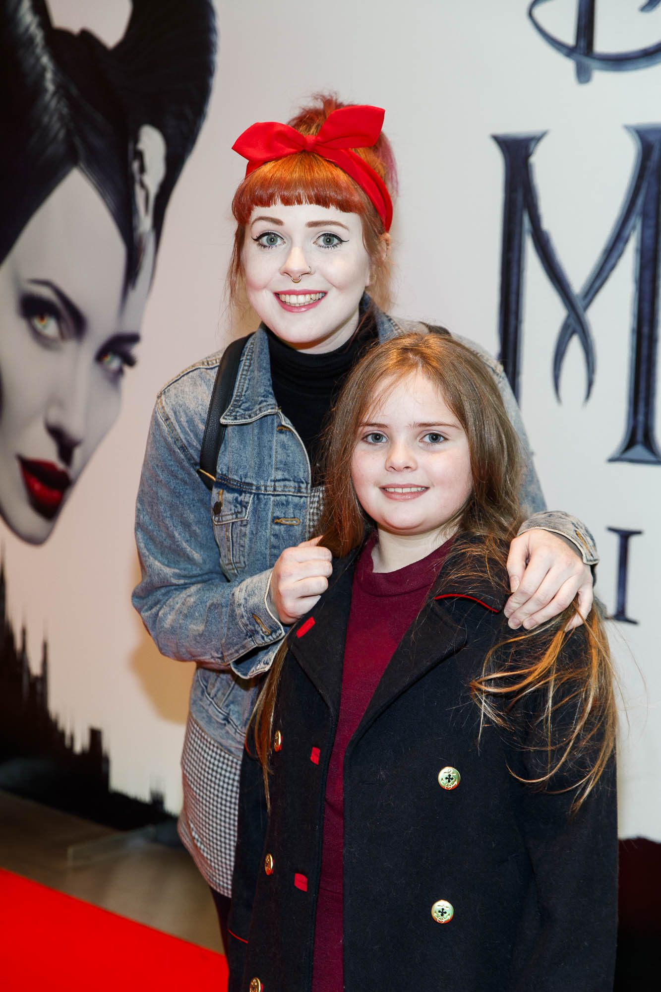 """Lolsy Byrne and Ella Convery (8) pictured a the special preview screening of Disney's """"Maleficent: Mistress of Evil' at the Light House Cinema, Dublin. Picture: Andres Poveda"""