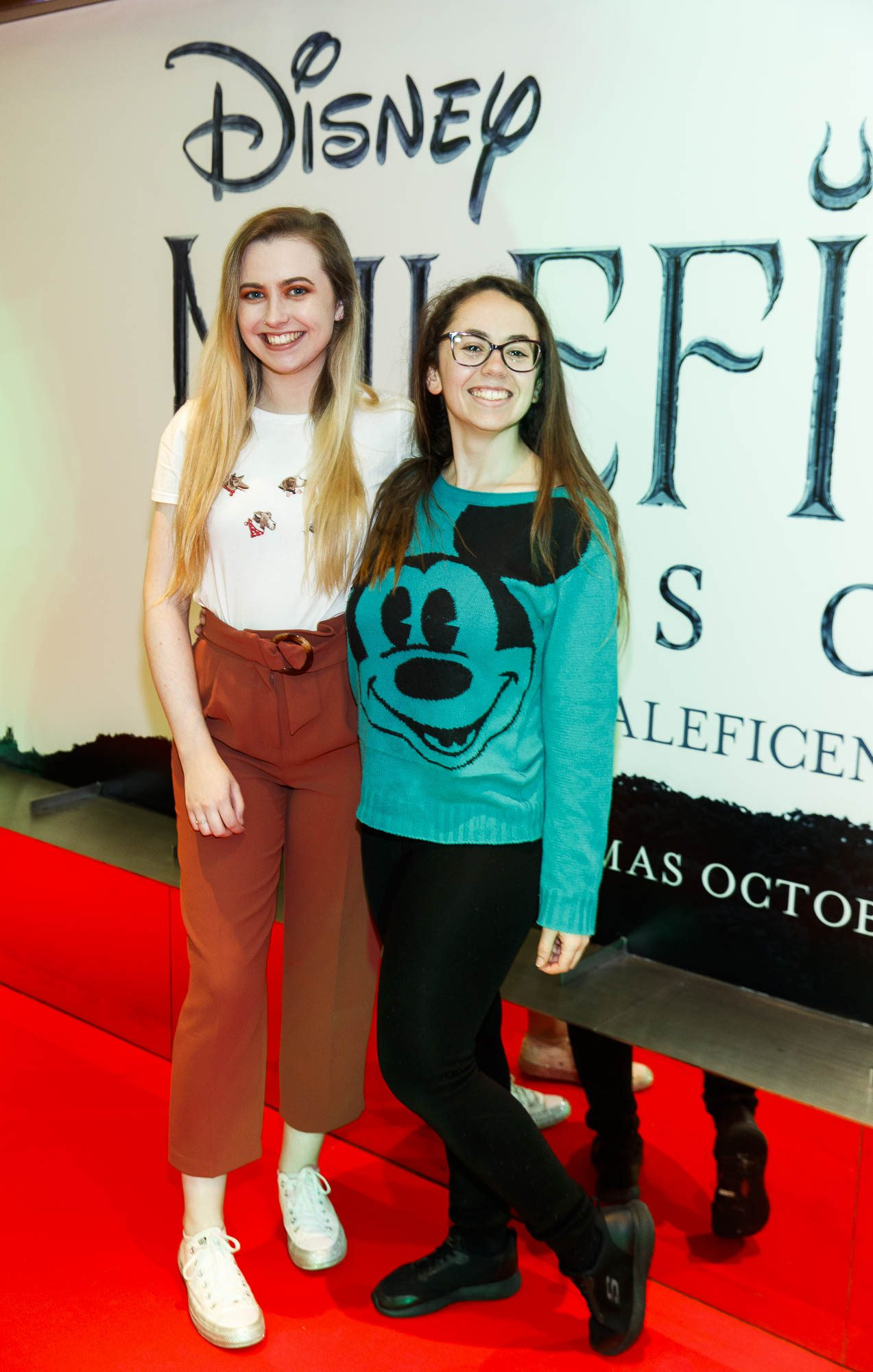 """Lee Brady and Bella Orives pictured a the special preview screening of Disney's """"Maleficent: Mistress of Evil' at the Light House Cinema, Dublin. Picture: Andres Poveda"""