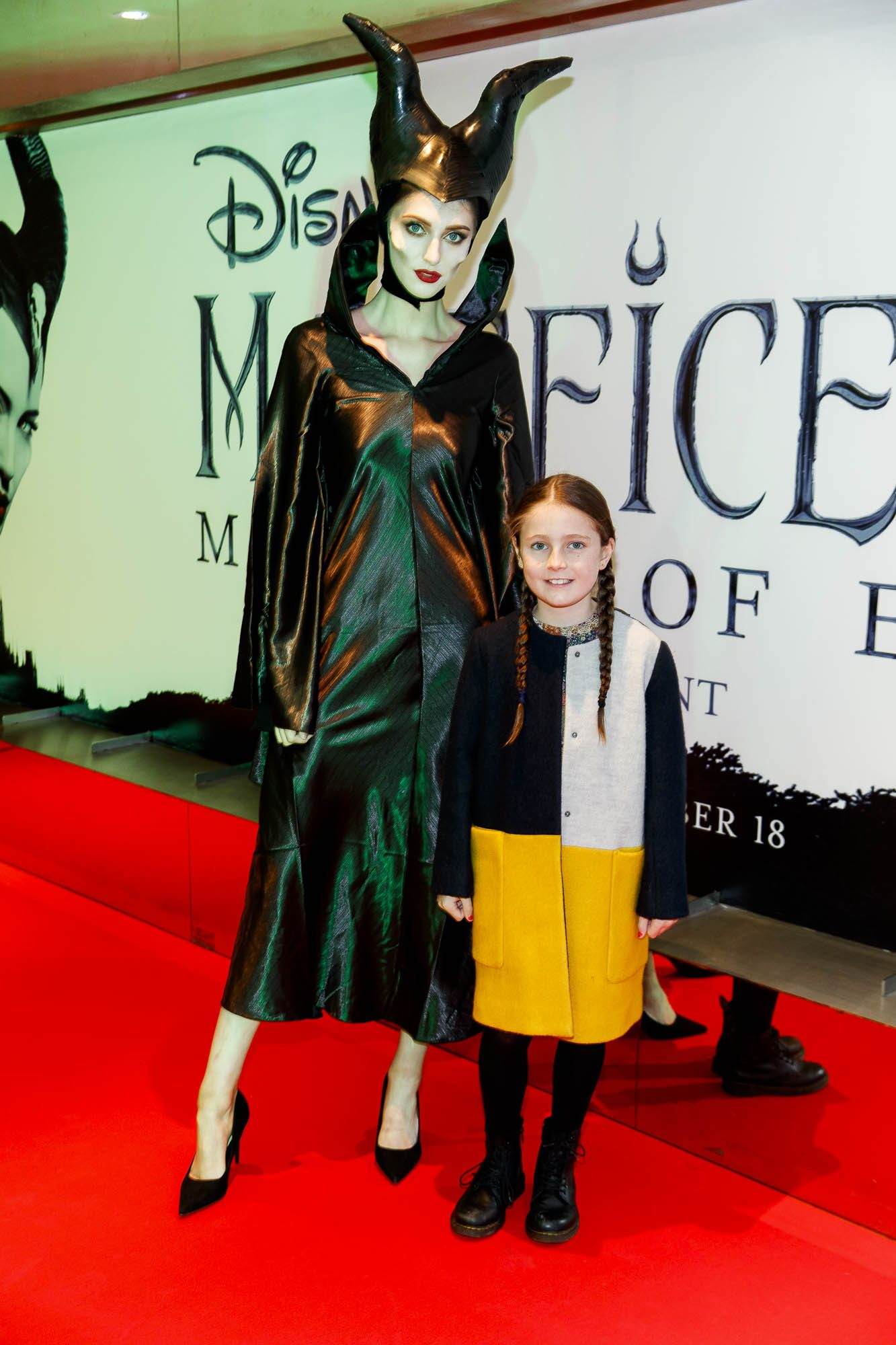"""Cherry Farrell (8) from Cabra pictured a the special preview screening of Disney's """"Maleficent: Mistress of Evil' at the Light House Cinema, Dublin. Picture: Andres Poveda"""