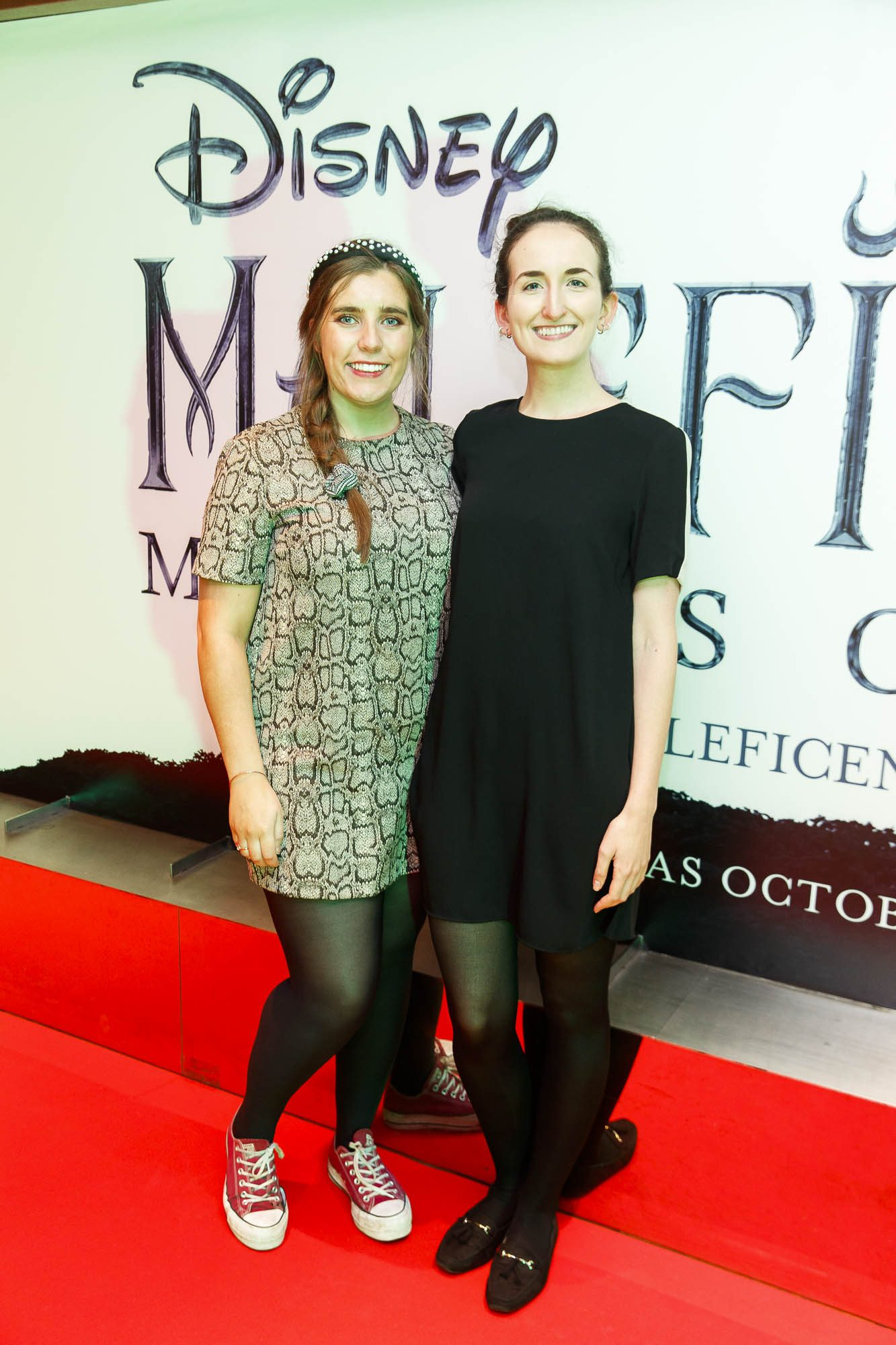 """Roxanne Kerrigan and Jane Roland pictured a the special preview screening of Disney's """"Maleficent: Mistress of Evil' at the Light House Cinema, Dublin. Picture: Andres Poveda"""