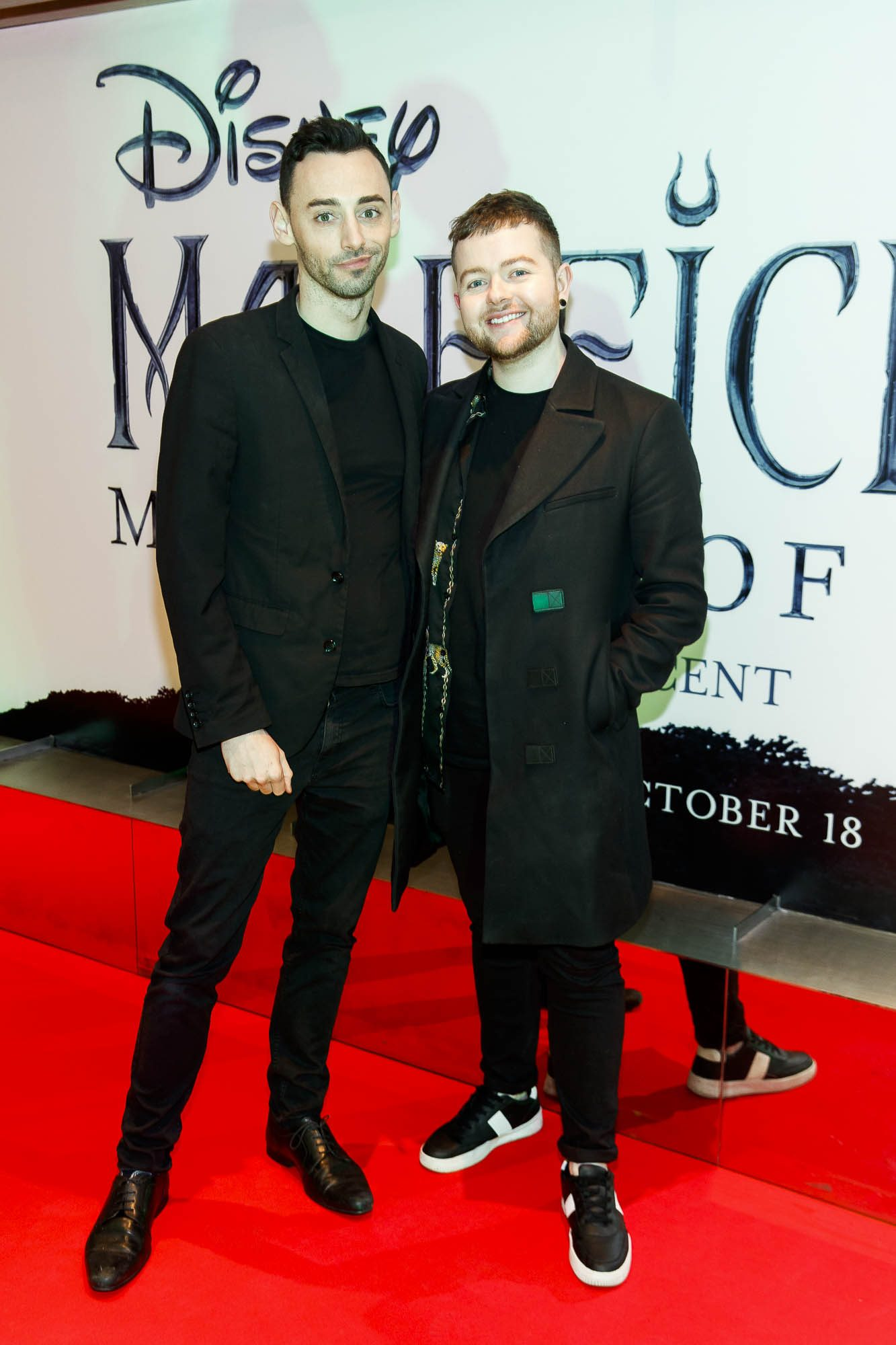 """John Bowes and Aidan Darcy pictured a the special preview screening of Disney's """"Maleficent: Mistress of Evil' at the Light House Cinema, Dublin. Picture: Andres Poveda"""